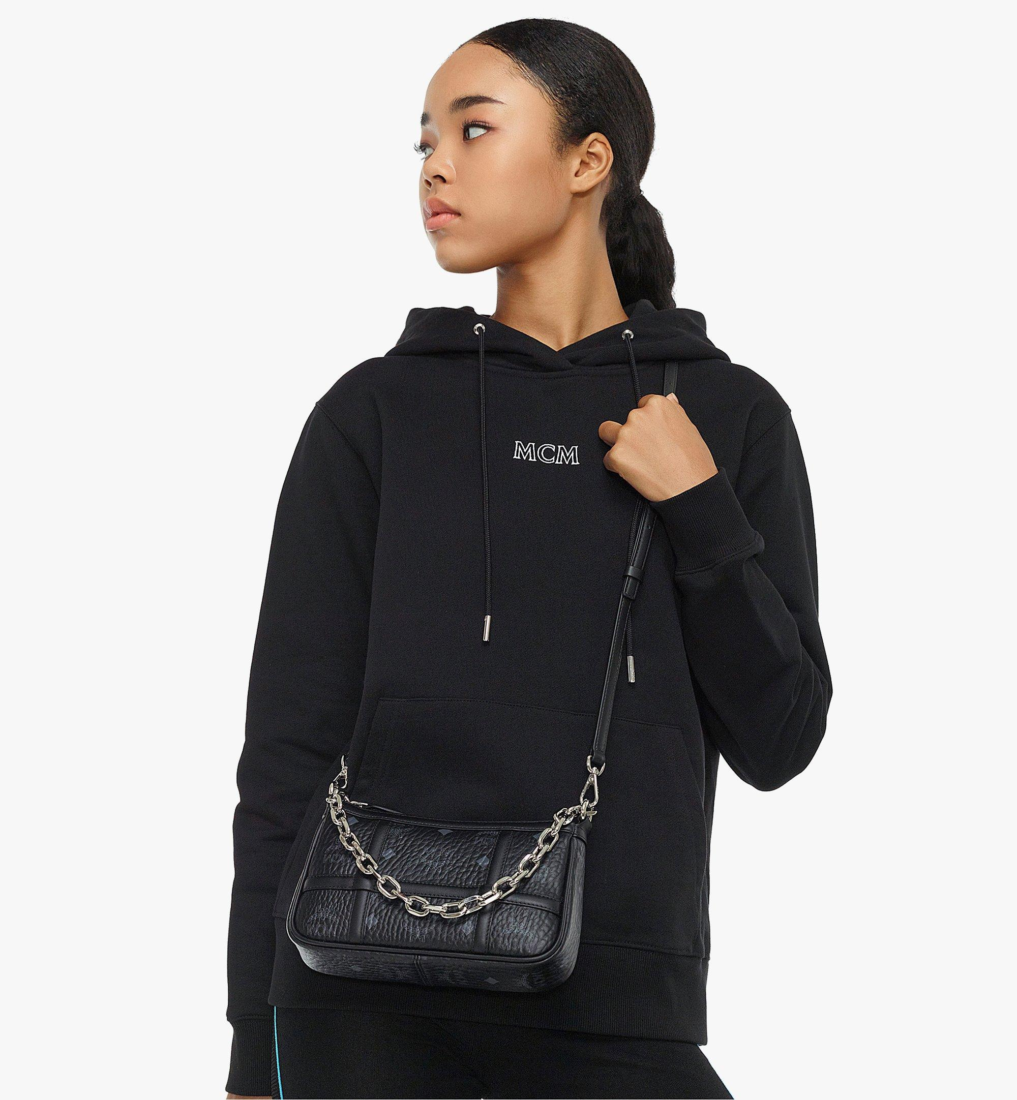 MCM Delmy Shoulder Bag in Visetos Black MWSBAER01BK001 Alternate View 3