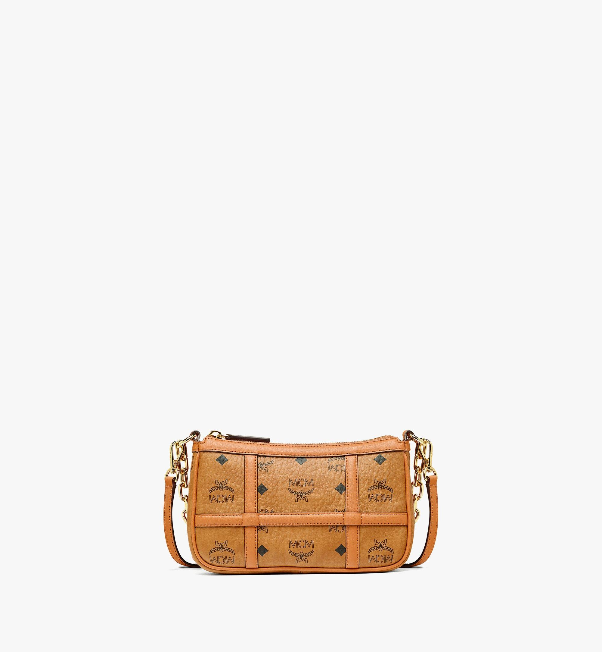 MCM Delmy Shoulder Bag in Visetos Cognac MWSBAER01CO001 Alternate View 1