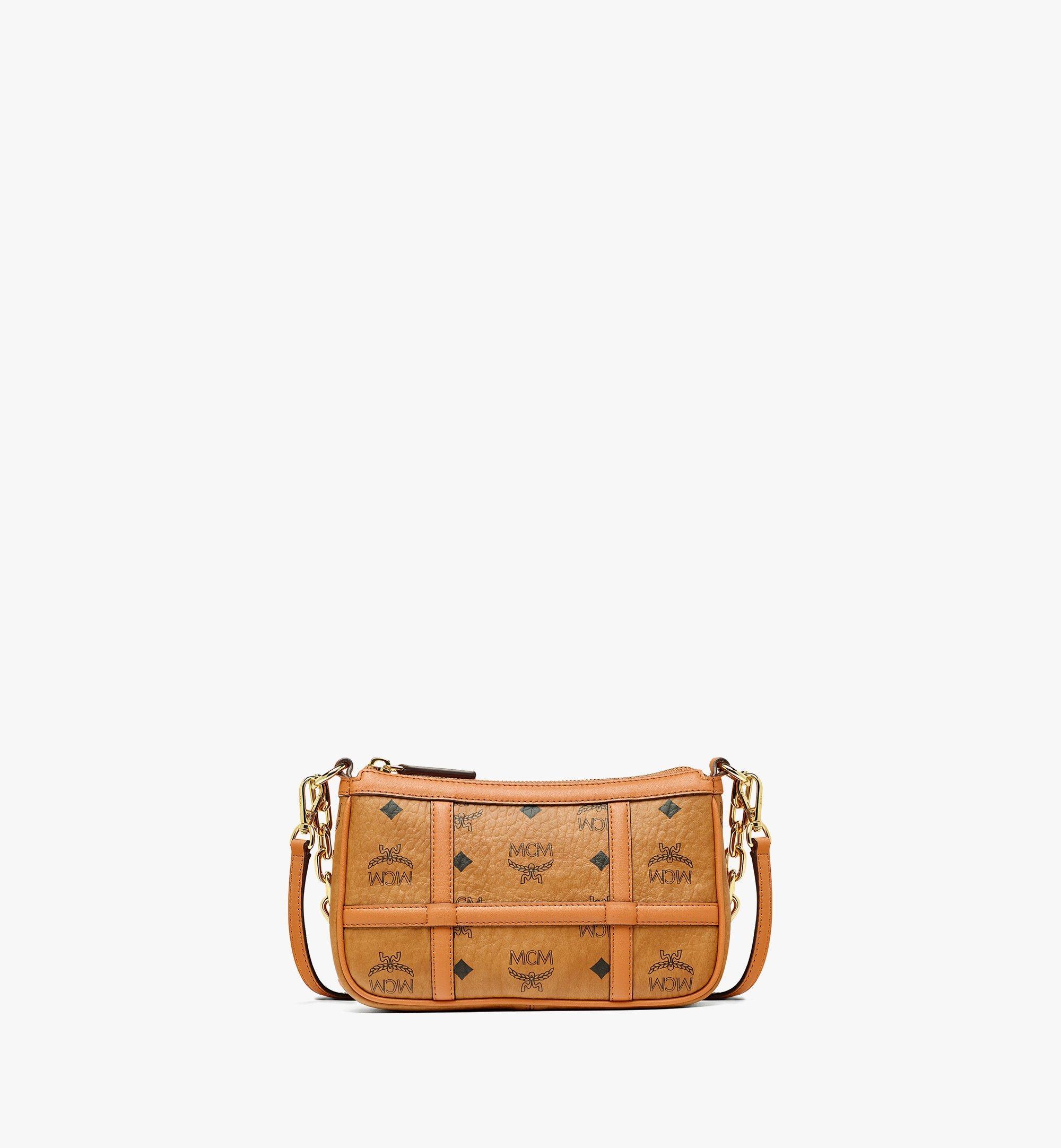 MCM Delmy Shoulder Bag in Visetos Cognac MWSBAER01CO001 Alternate View 3