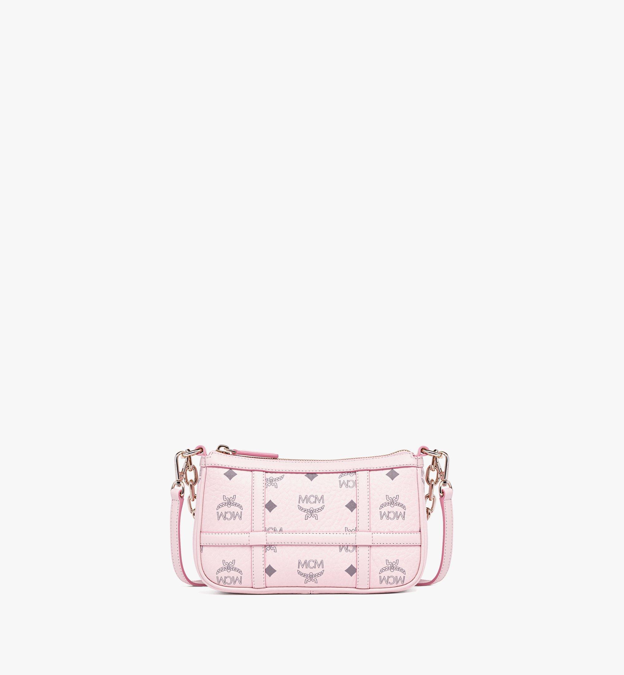 MCM Delmy Shoulder Bag in Visetos Pink MWSBAER01QH001 Alternate View 1