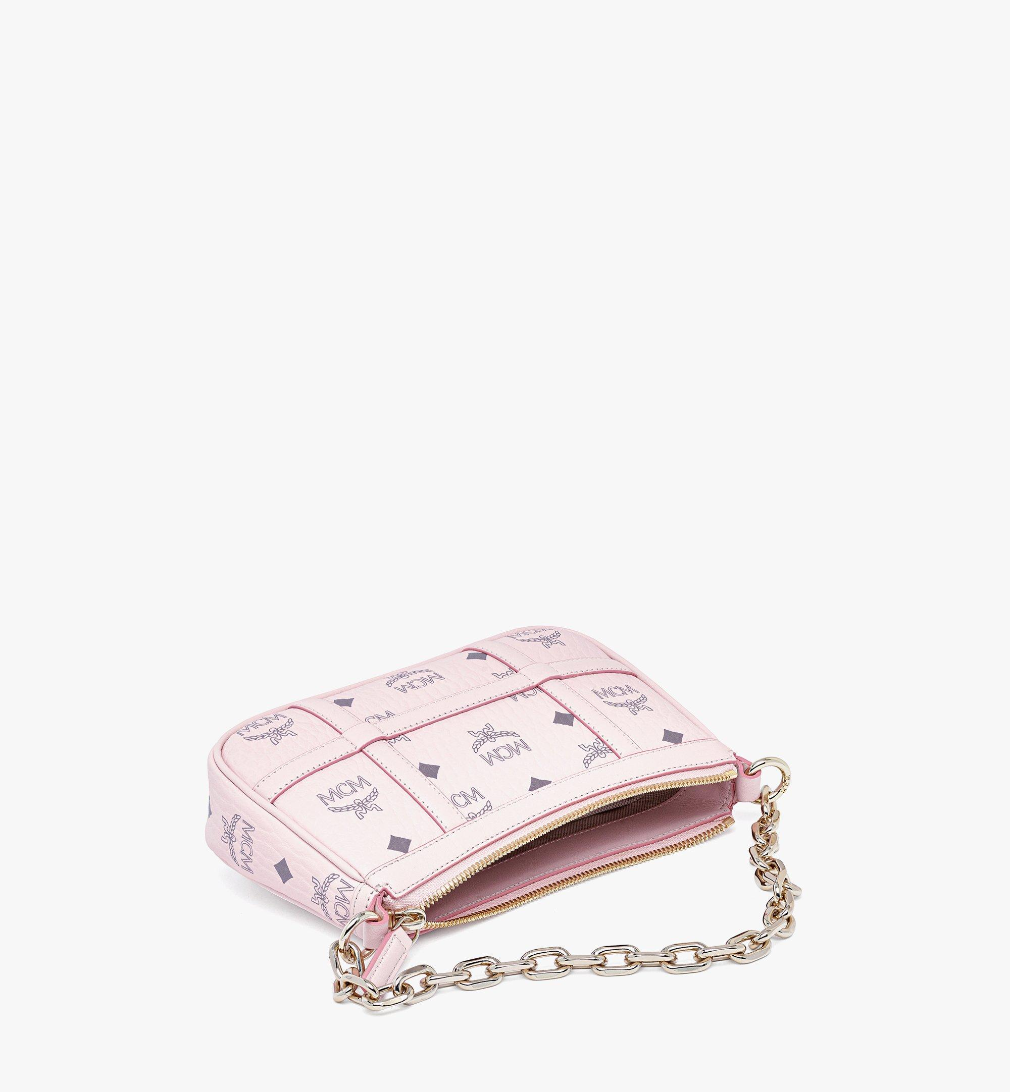MCM Delmy Shoulder Bag in Visetos Pink MWSBAER01QH001 Alternate View 2