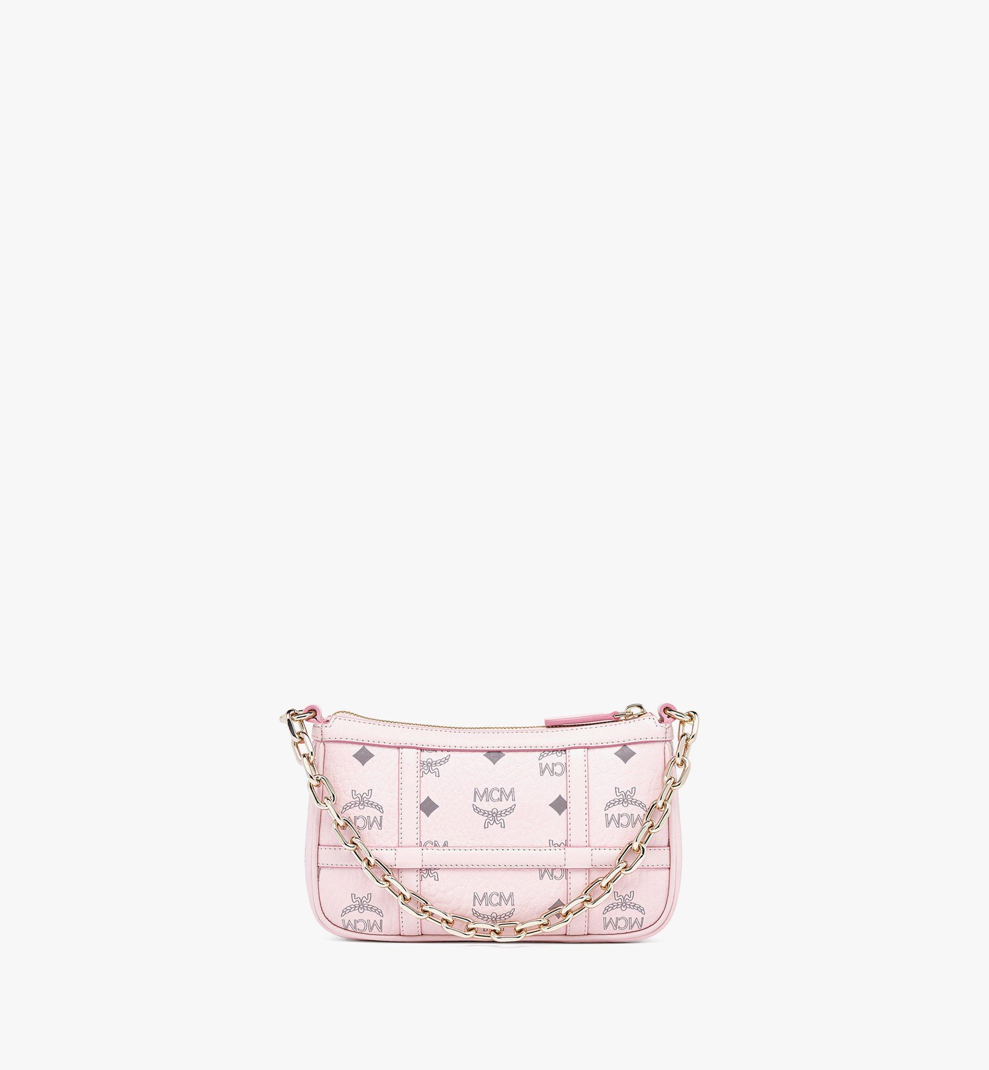 MCM Delmy Shoulder Bag in Visetos Pink MWSBAER01QH001 Alternate View 3