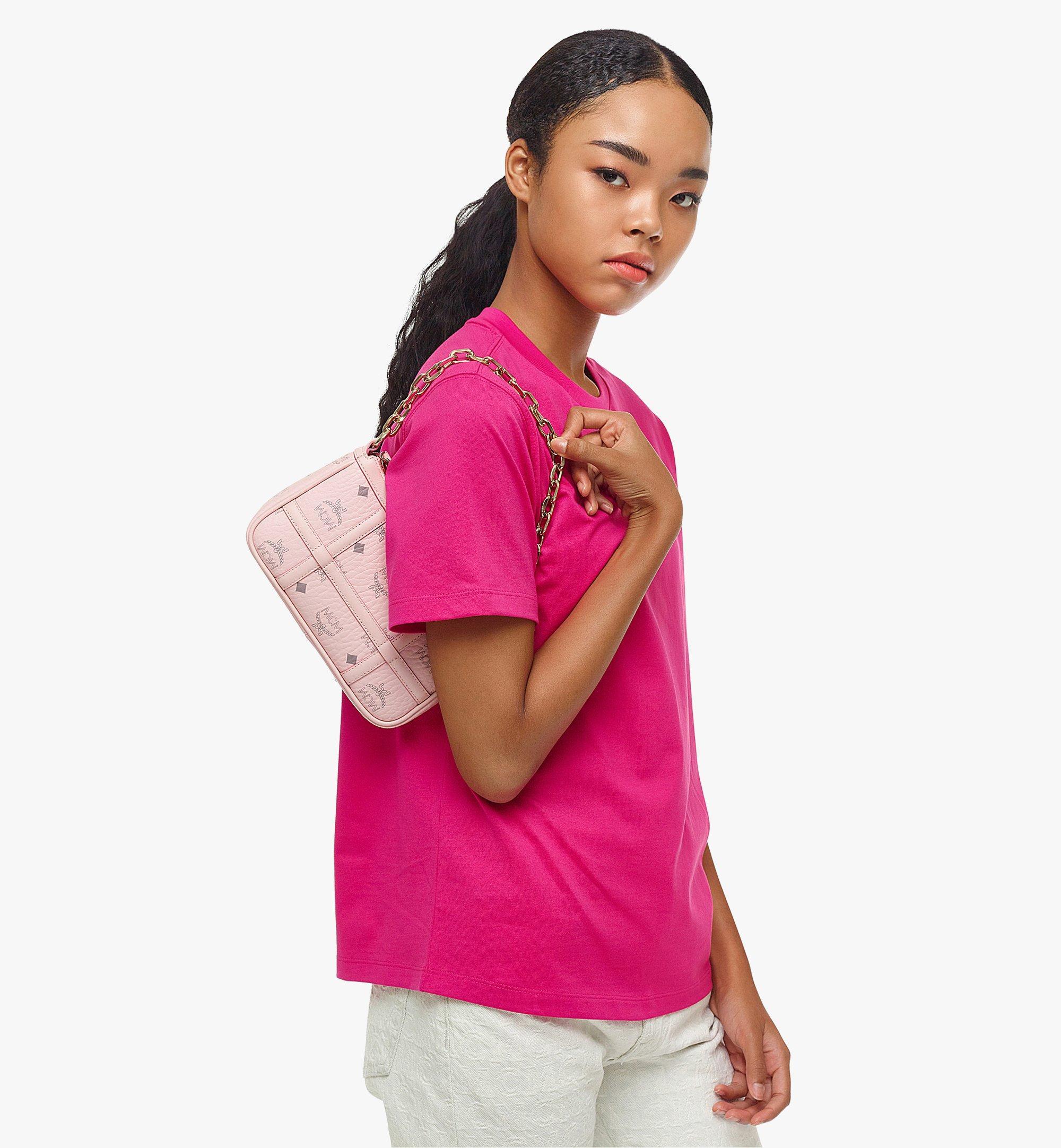 MCM Delmy Shoulder Bag in Visetos Pink MWSBAER01QH001 Alternate View 4