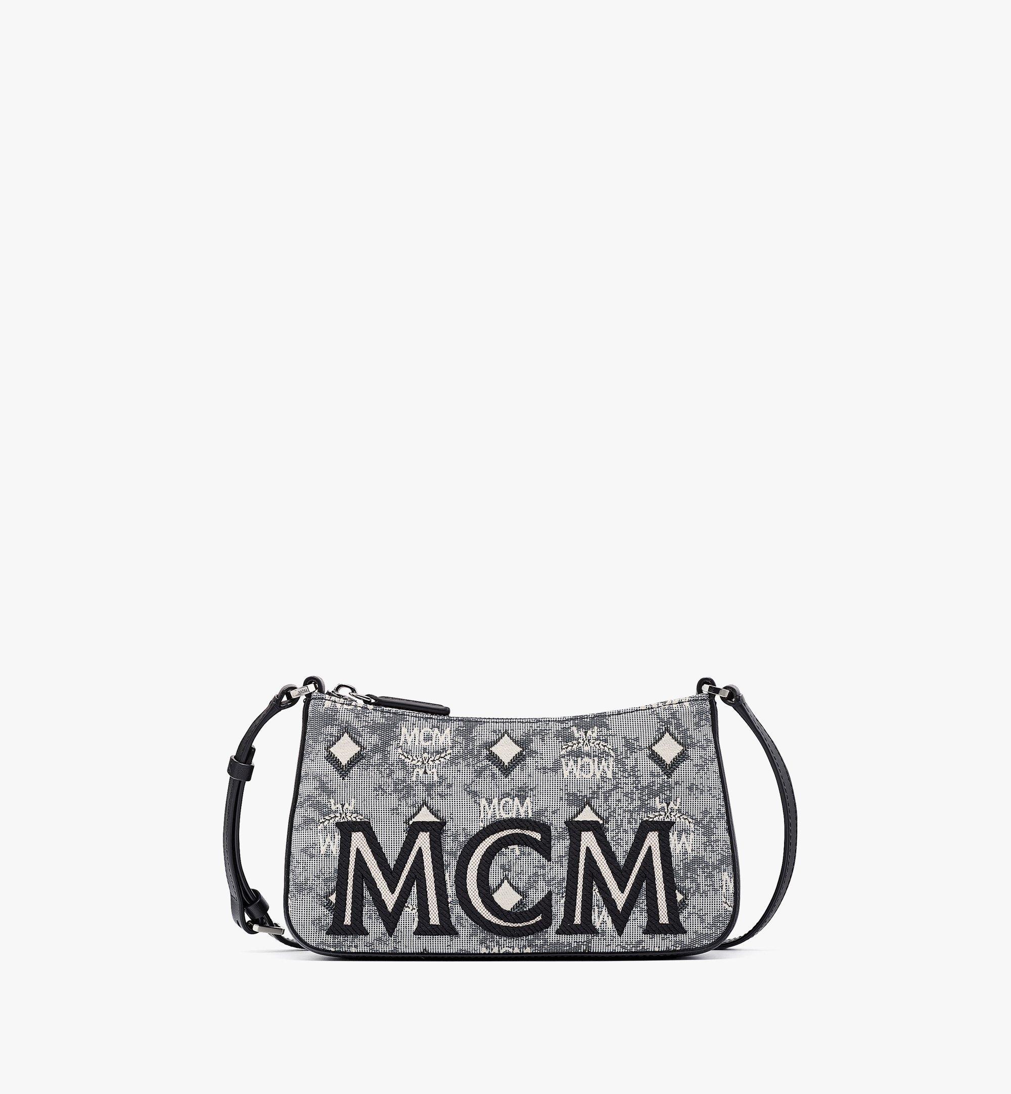 MCM Shoulder Bag in Vintage Jacquard Monogram Grey MWSBATQ01EG001 Alternate View 1