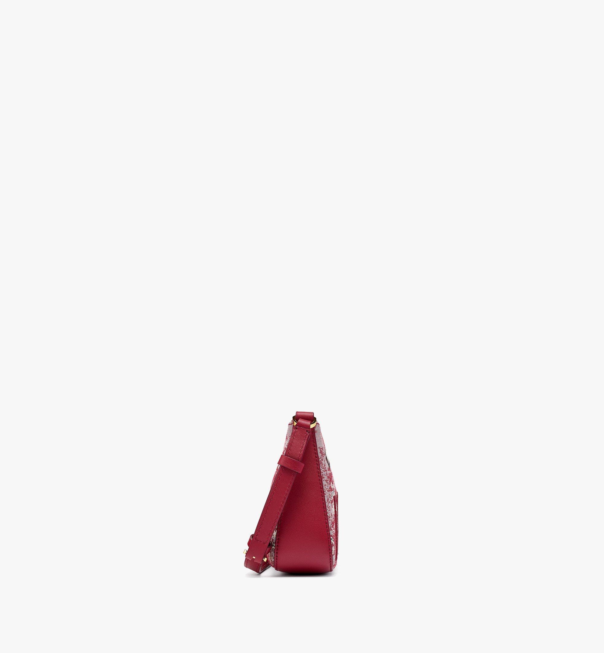 MCM Sac porté épaule en jacquard monogrammé vintage Red MWSBATQ01RE001 Plus de photos 1
