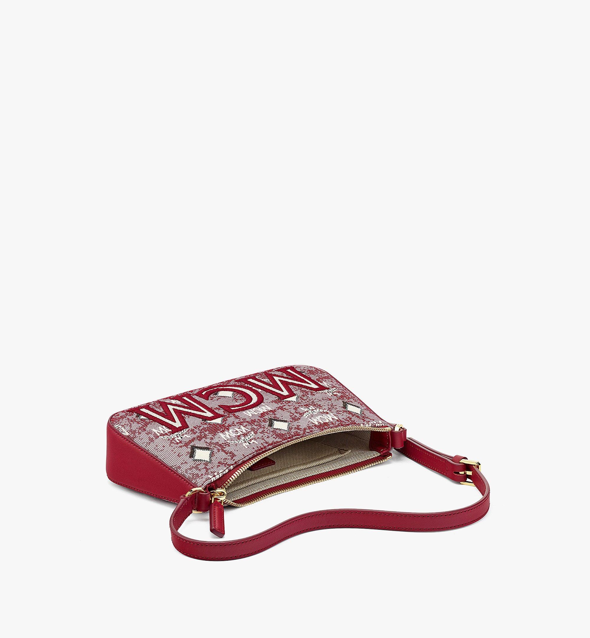 MCM Sac porté épaule en jacquard monogrammé vintage Red MWSBATQ01RE001 Plus de photos 2