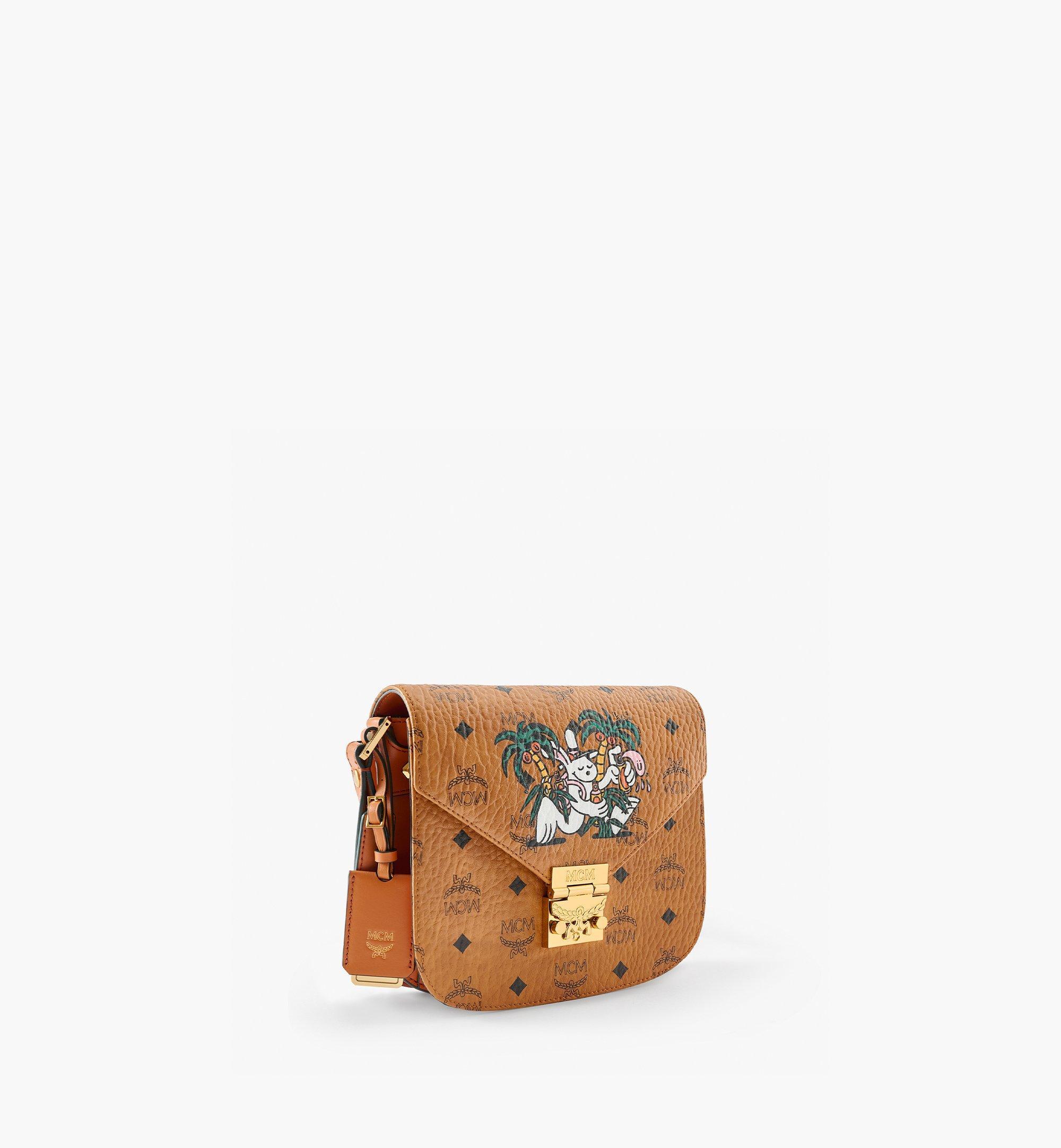 MCM MCM x Aka Boku Patricia Shoulder Bag in Visetos Cognac MWSBAUP01CO001 Alternate View 1