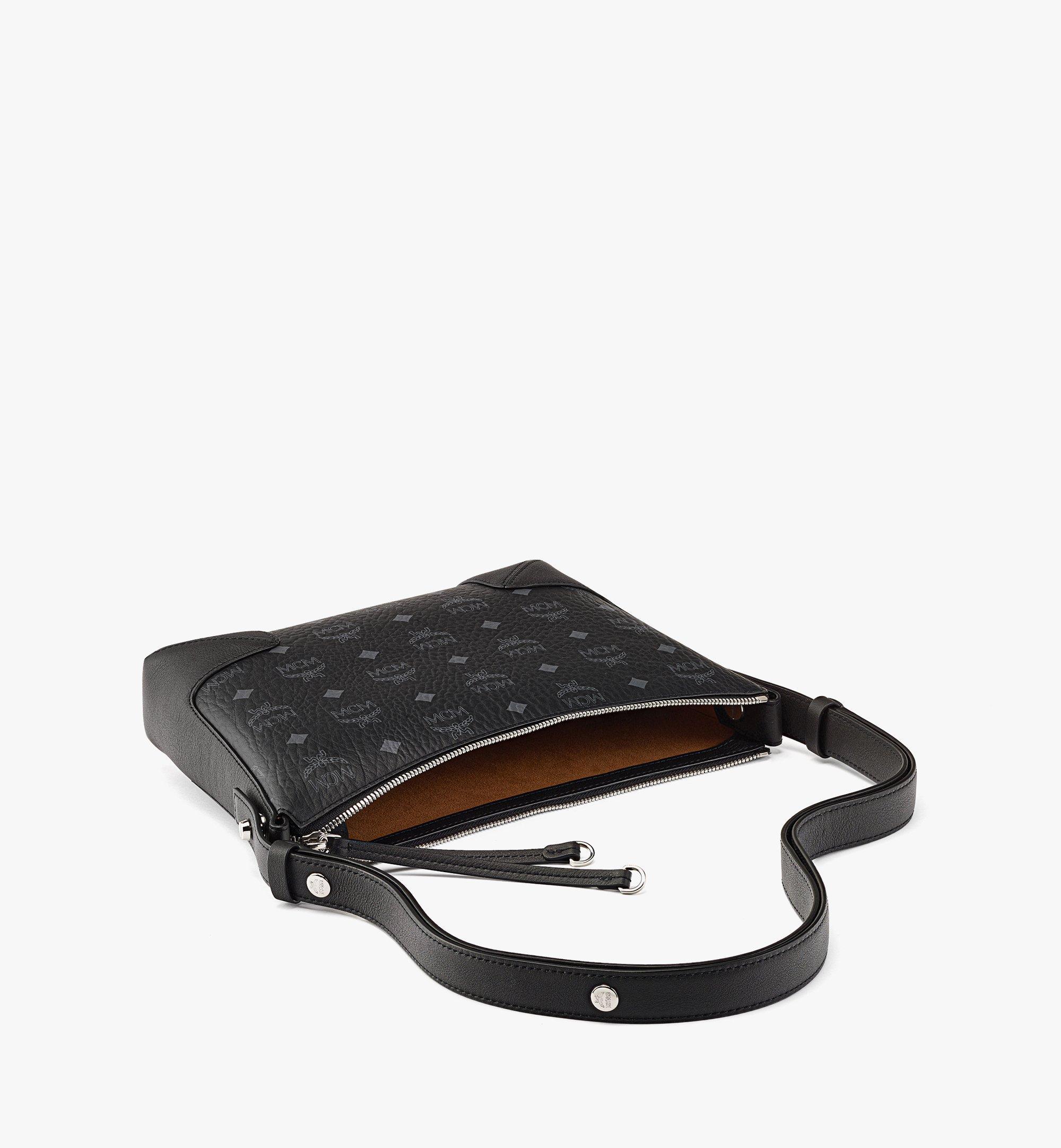 MCM Klara Shoulder Bag in Visetos Black MWSBSKM01BK001 Alternate View 2