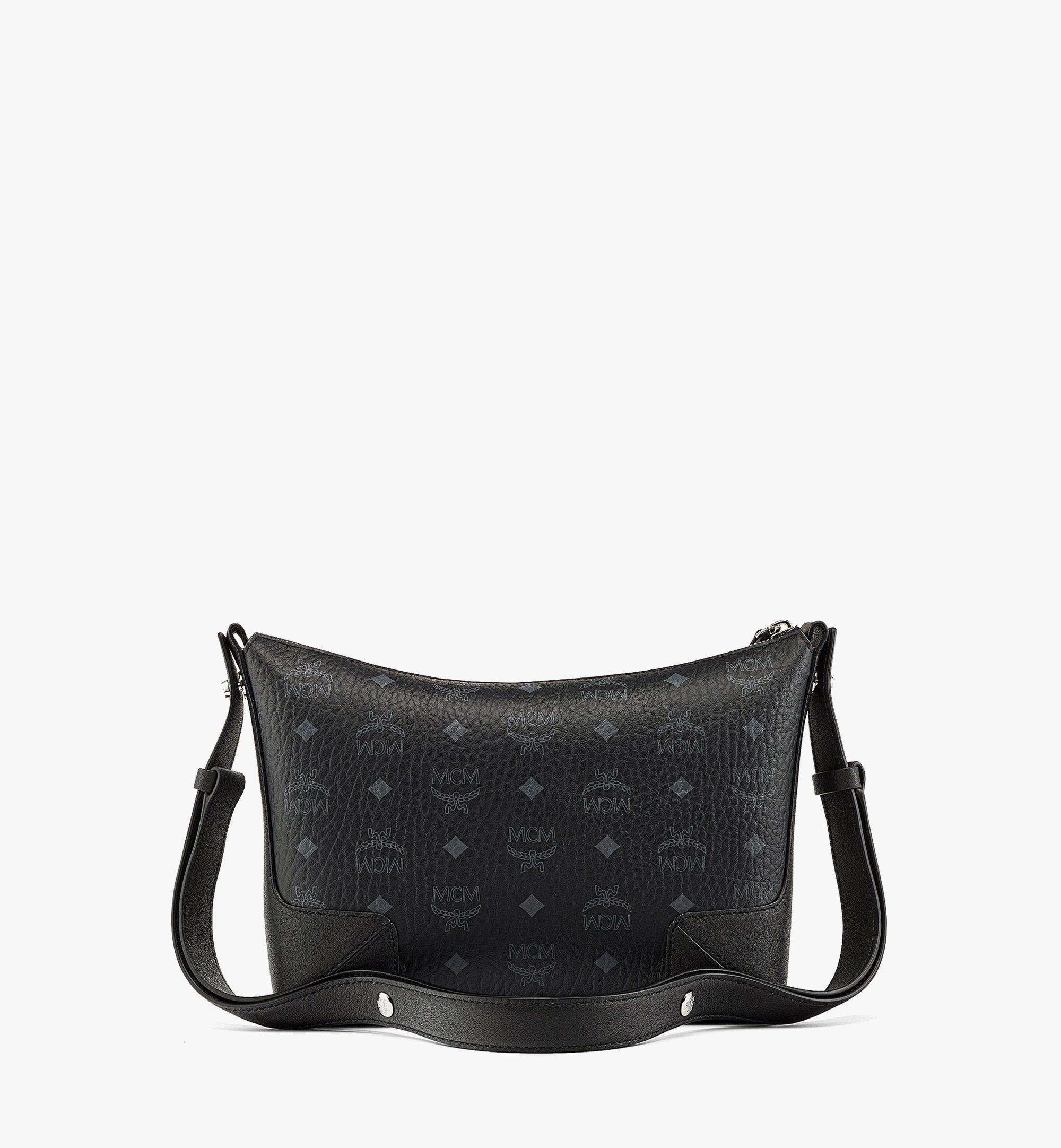 MCM Klara Shoulder Bag in Visetos Black MWSBSKM01BK001 Alternate View 3
