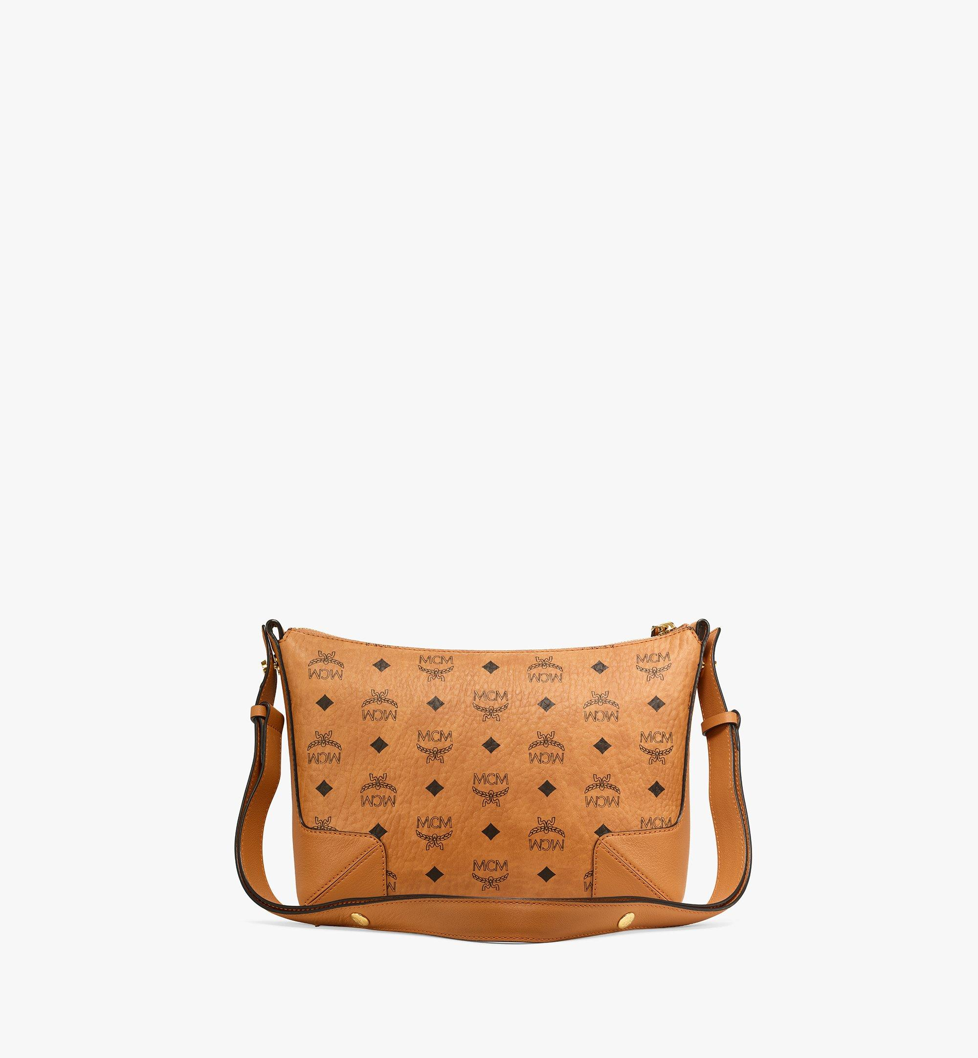 MCM Klara Shoulder Bag in Visetos Cognac MWSBSKM01CO001 Alternate View 3