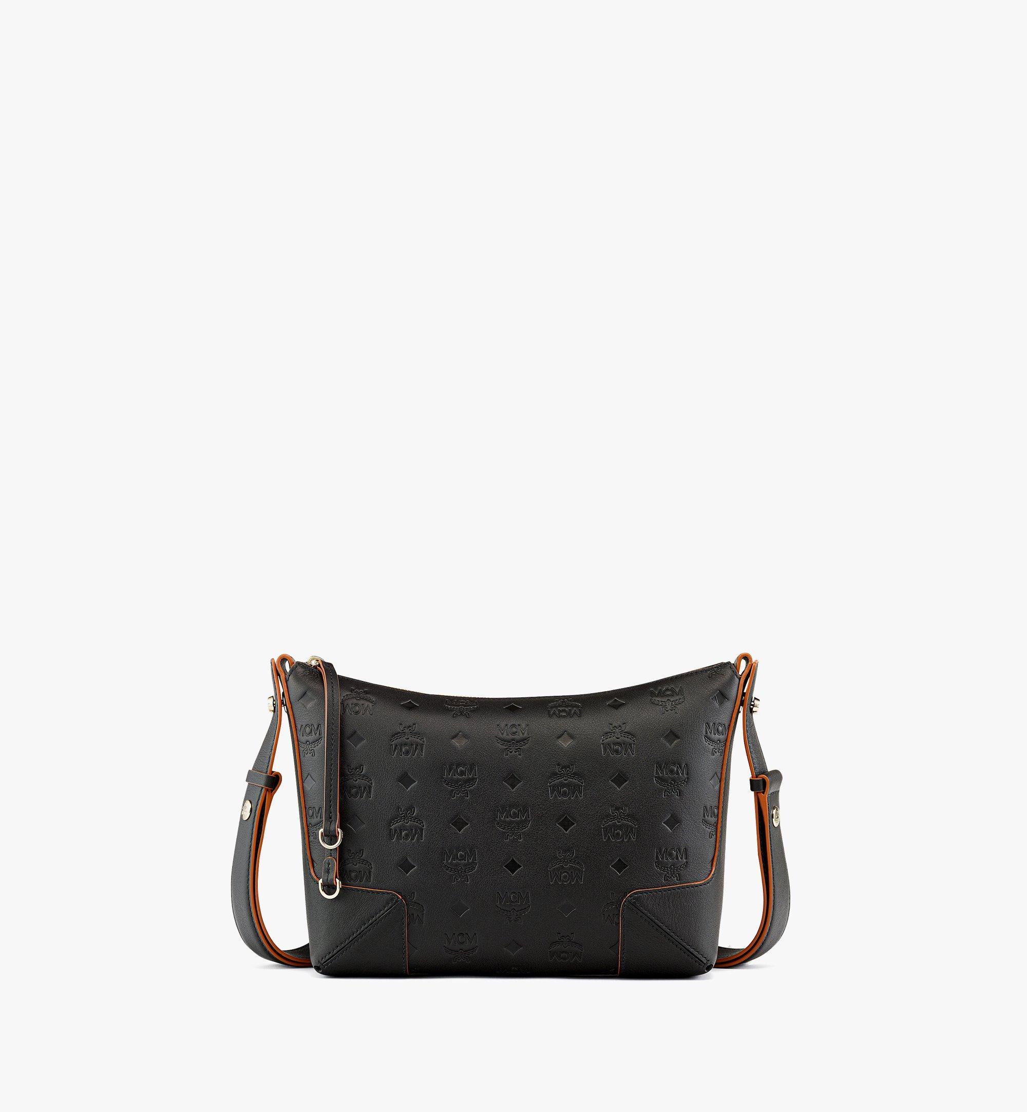 MCM Klara Shoulder Bag in Monogram Leather Black MWSBSKM02BK001 Alternate View 1
