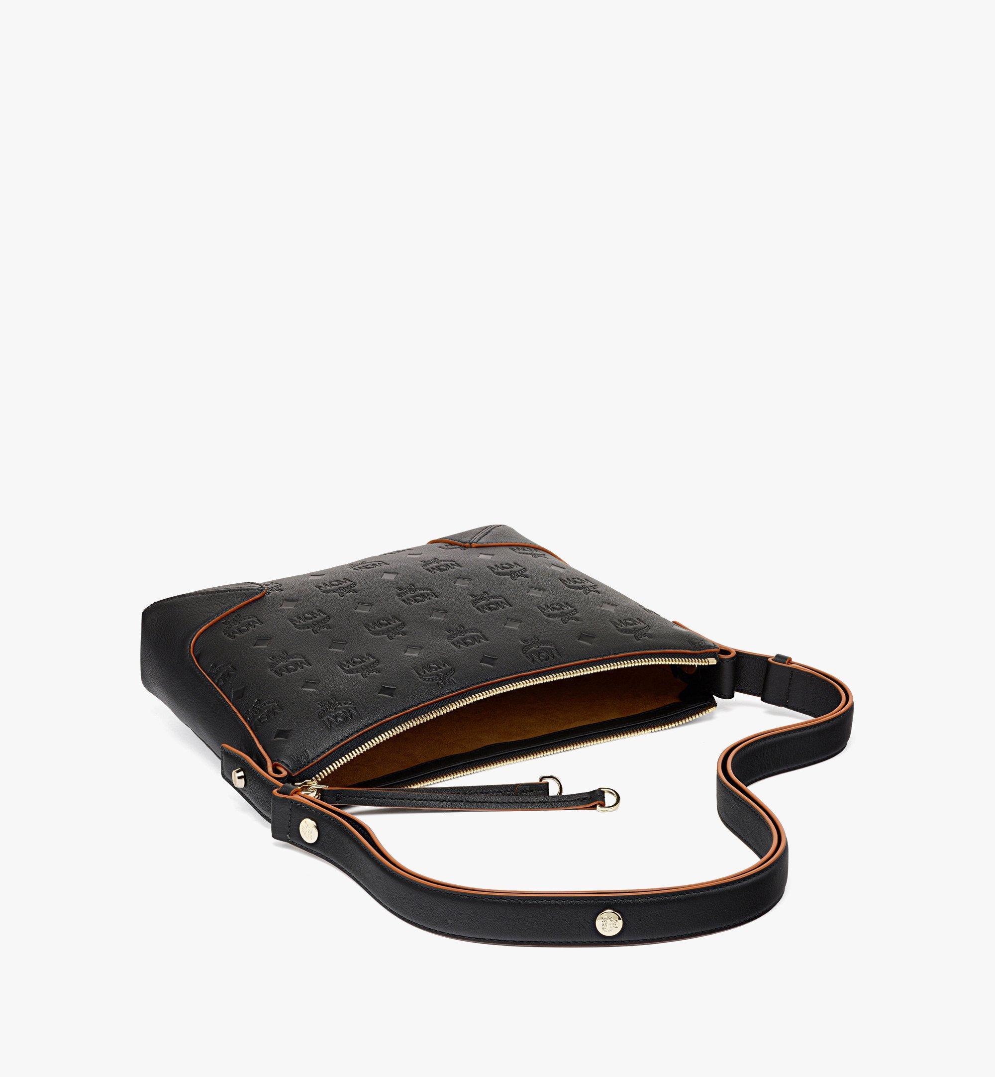 MCM Klara Shoulder Bag in Monogram Leather Black MWSBSKM02BK001 Alternate View 2