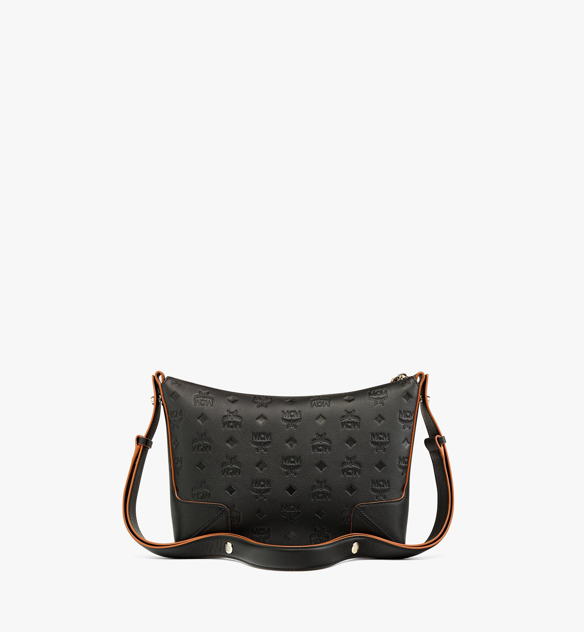 MCM Klara Shoulder Bag in Monogram Leather Black MWSBSKM02BK001 Alternate View 3