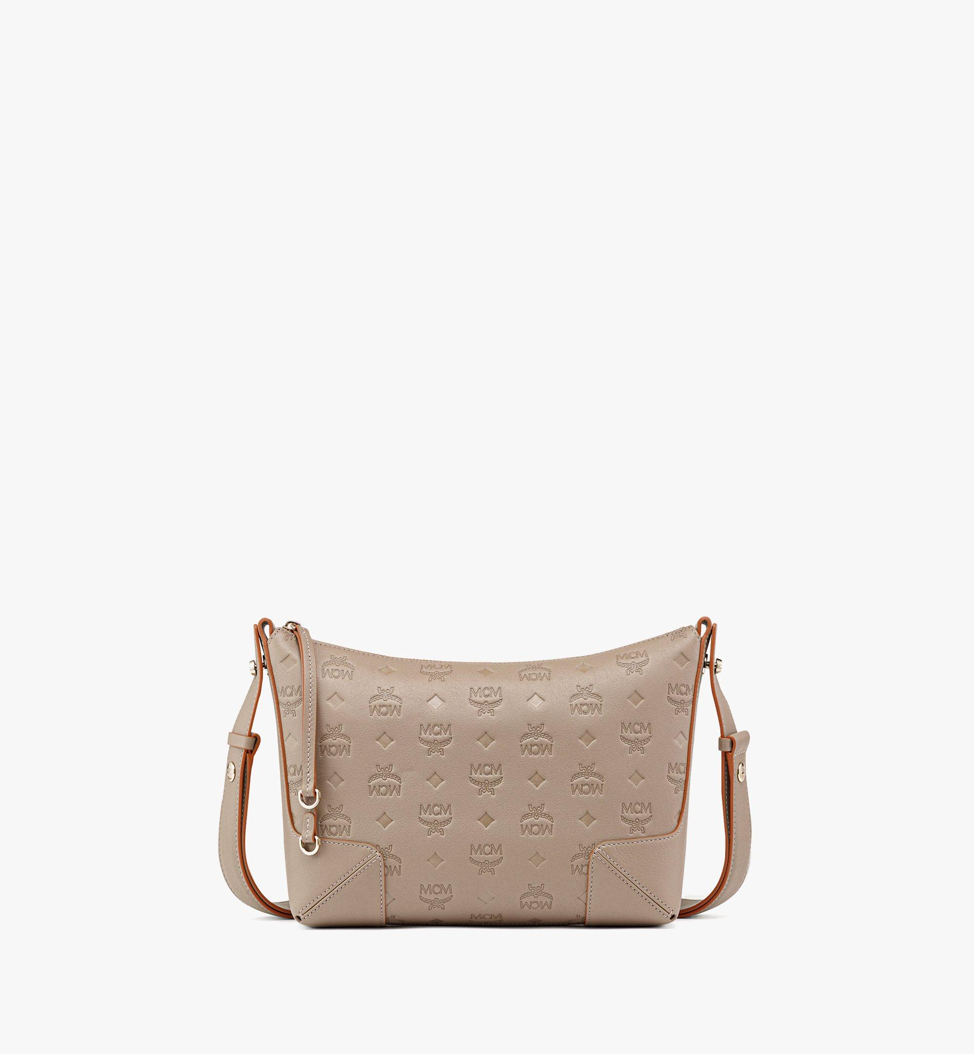 MCM Klara Shoulder Bag in Monogram Leather Grey MWSBSKM02NV001 Alternate View 1