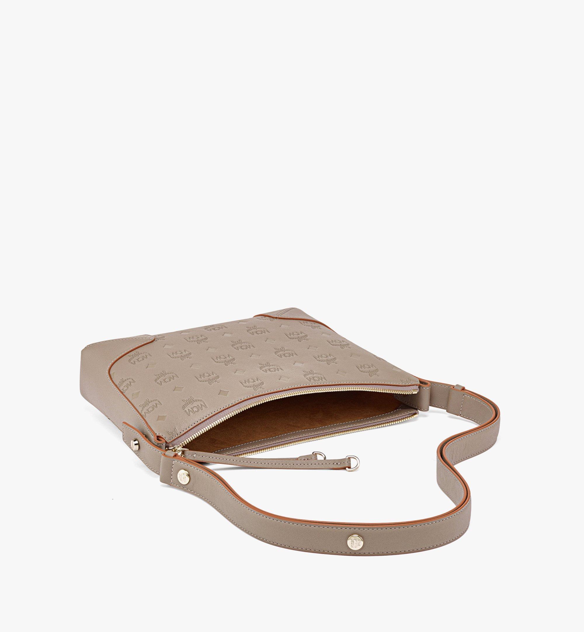 MCM Klara Shoulder Bag in Monogram Leather Grey MWSBSKM02NV001 Alternate View 2