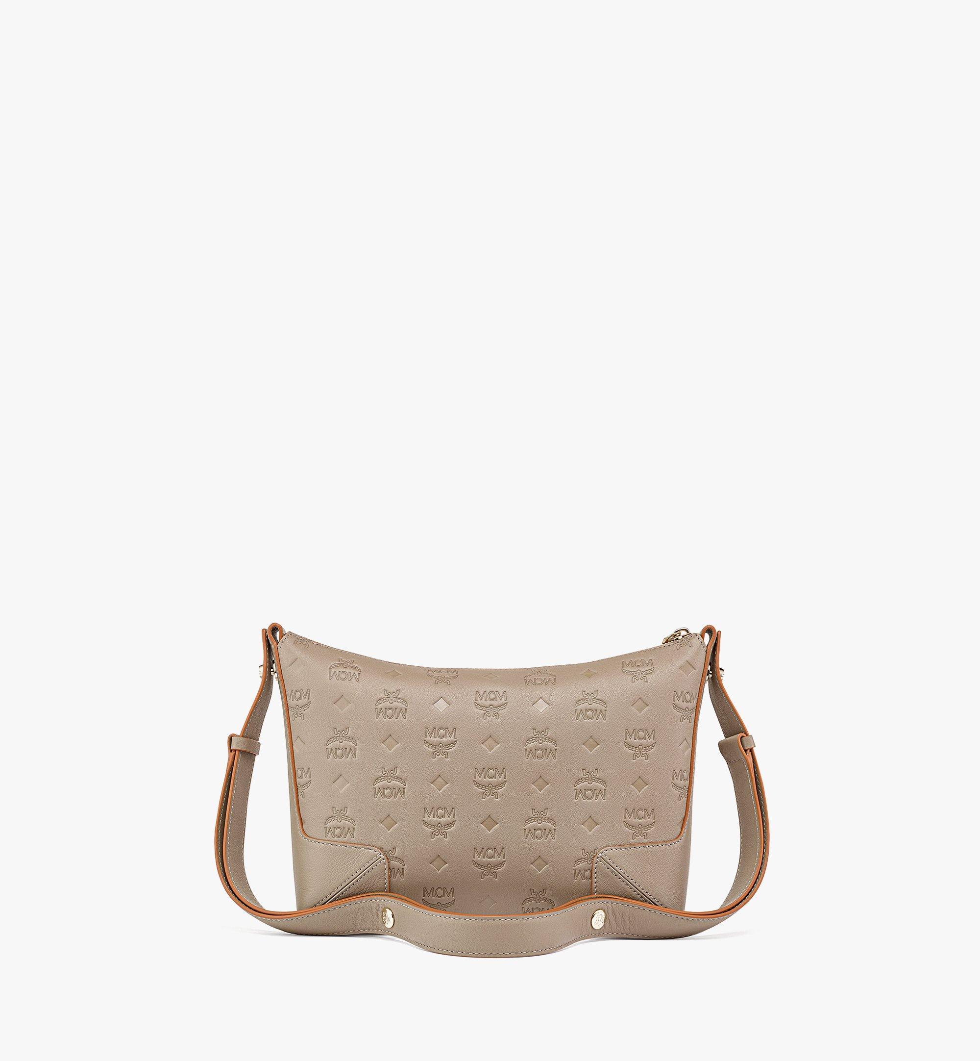 MCM Klara Shoulder Bag in Monogram Leather Grey MWSBSKM02NV001 Alternate View 3