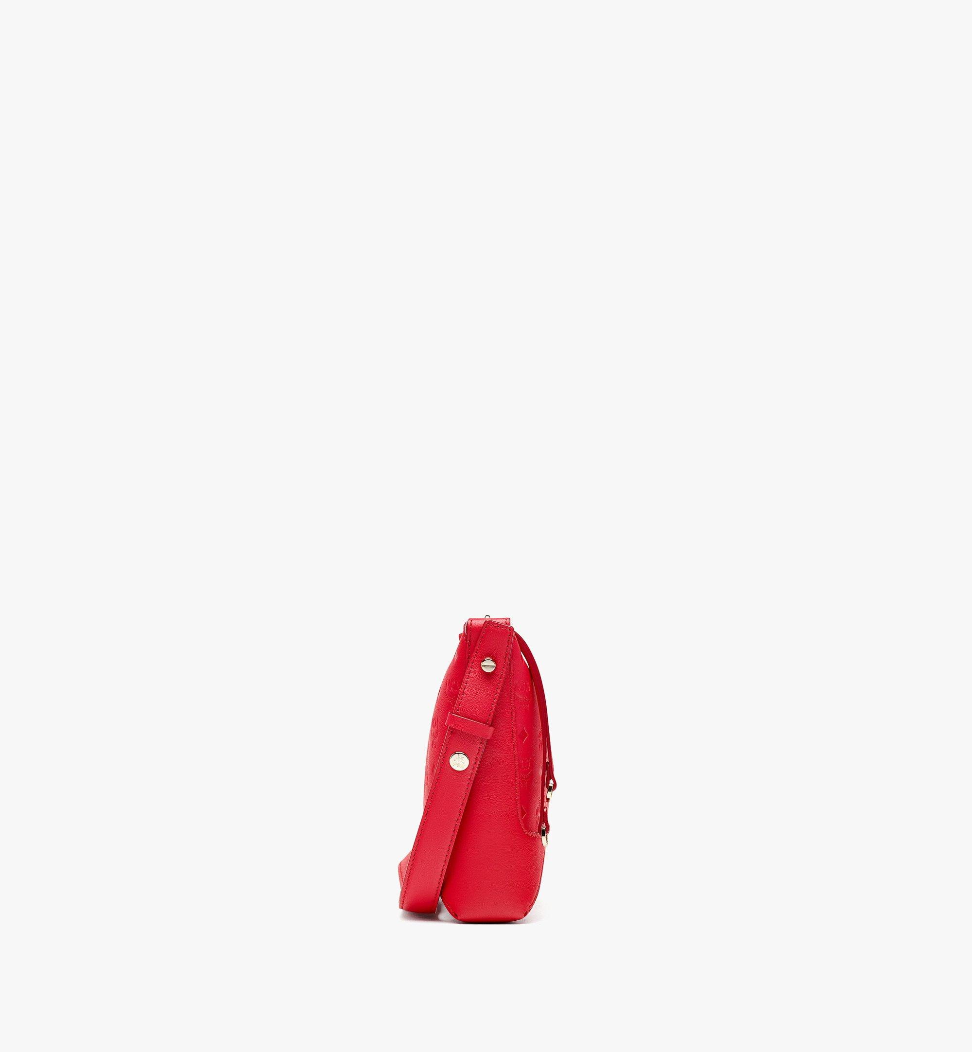 MCM Klara Shoulder Bag in Monogram Leather Red MWSBSKM02R0001 Alternate View 1