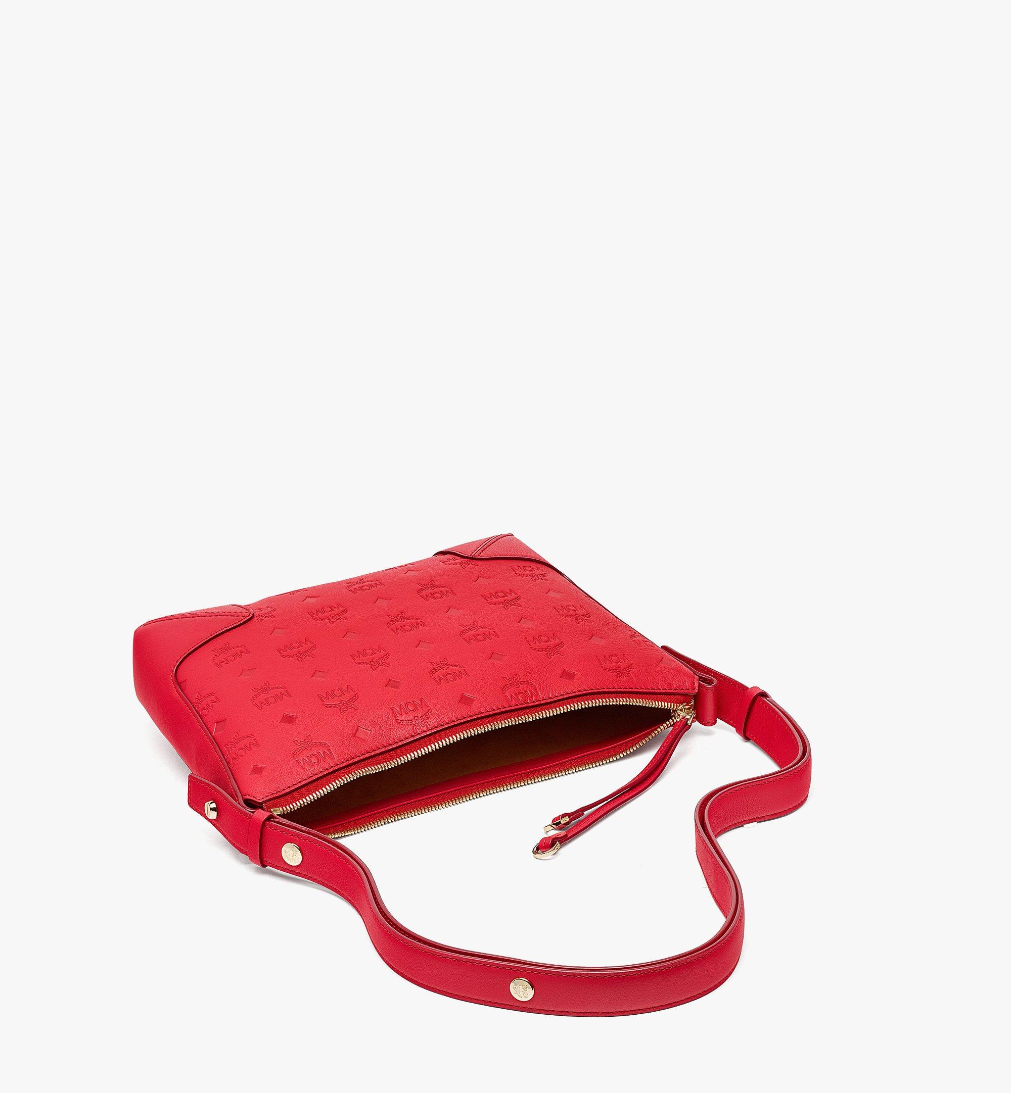 MCM Klara Shoulder Bag in Monogram Leather Red MWSBSKM02R0001 Alternate View 2