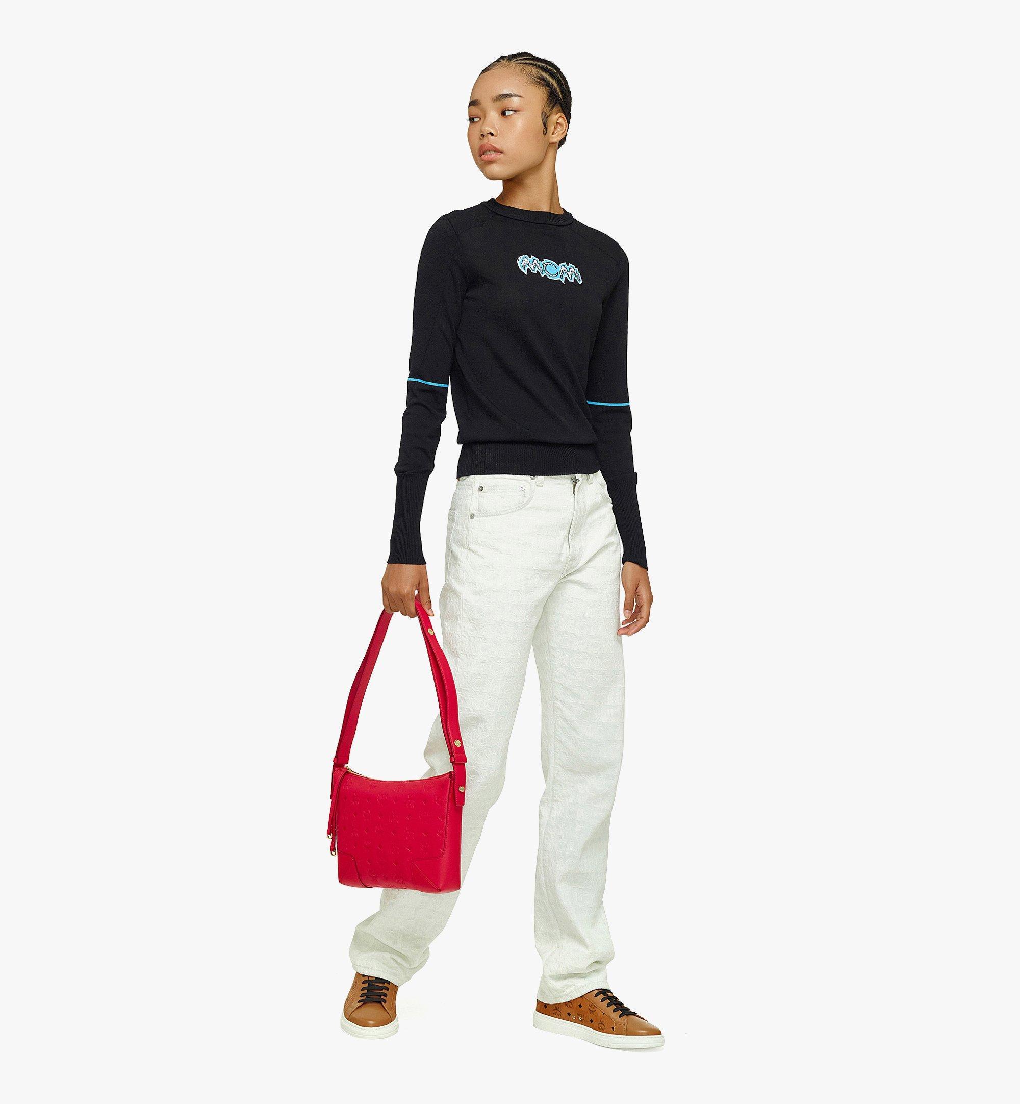 MCM Klara Shoulder Bag in Monogram Leather Red MWSBSKM02R0001 Alternate View 3
