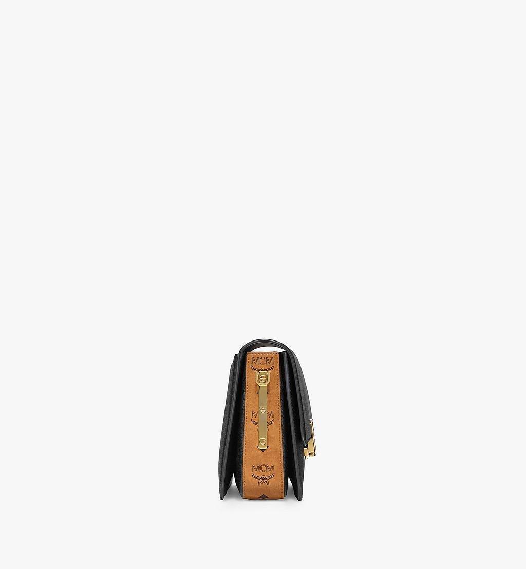 MCM Mena Shoulder Bag in Visetos Leather Block Black MWSBSLM01BK001 Alternate View 1