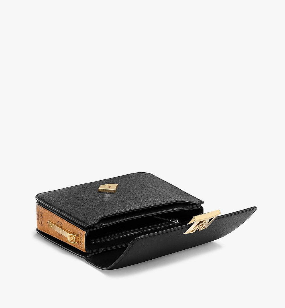 MCM Mena Shoulder Bag in Visetos Leather Block Black MWSBSLM01BK001 Alternate View 2