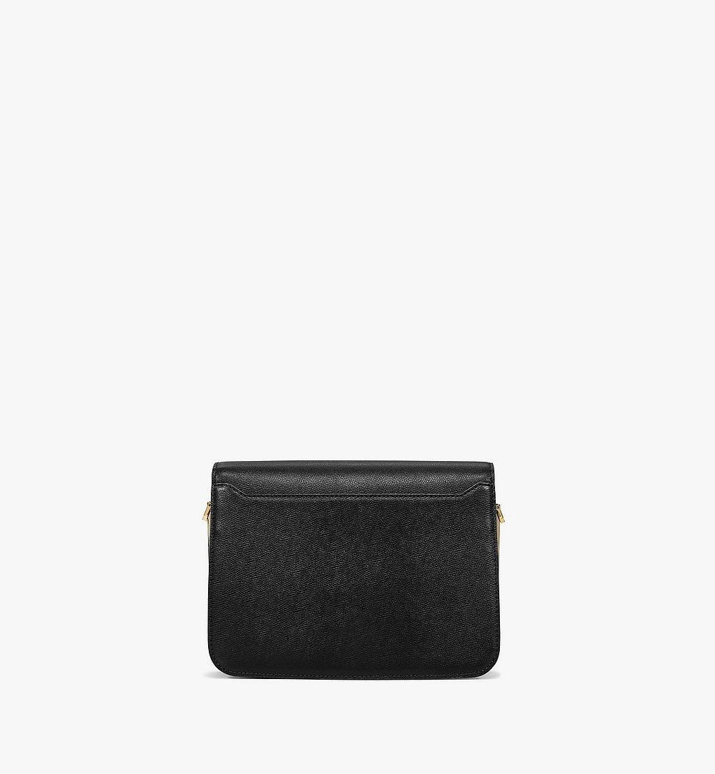 MCM Mena Shoulder Bag in Visetos Leather Block Black MWSBSLM01BK001 Alternate View 3