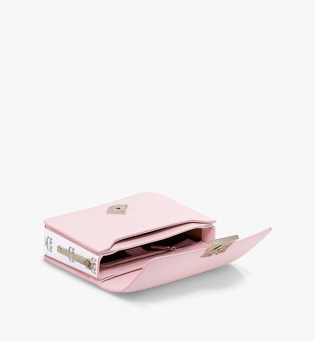 MCM Mena Shoulder Bag in Visetos Leather Block Pink MWSBSLM01QH001 Alternate View 2