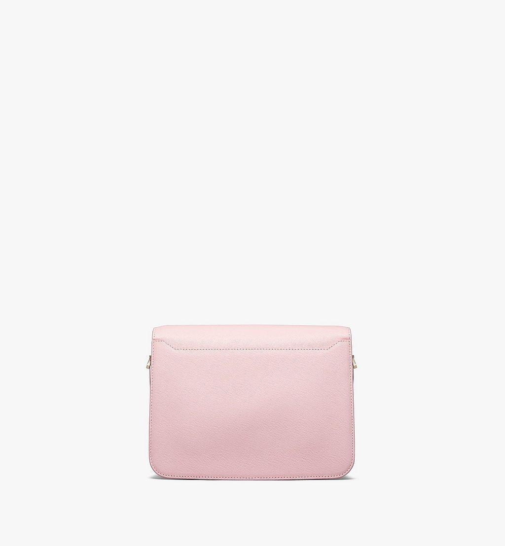 MCM Mena Shoulder Bag in Visetos Leather Block Pink MWSBSLM01QH001 Alternate View 3