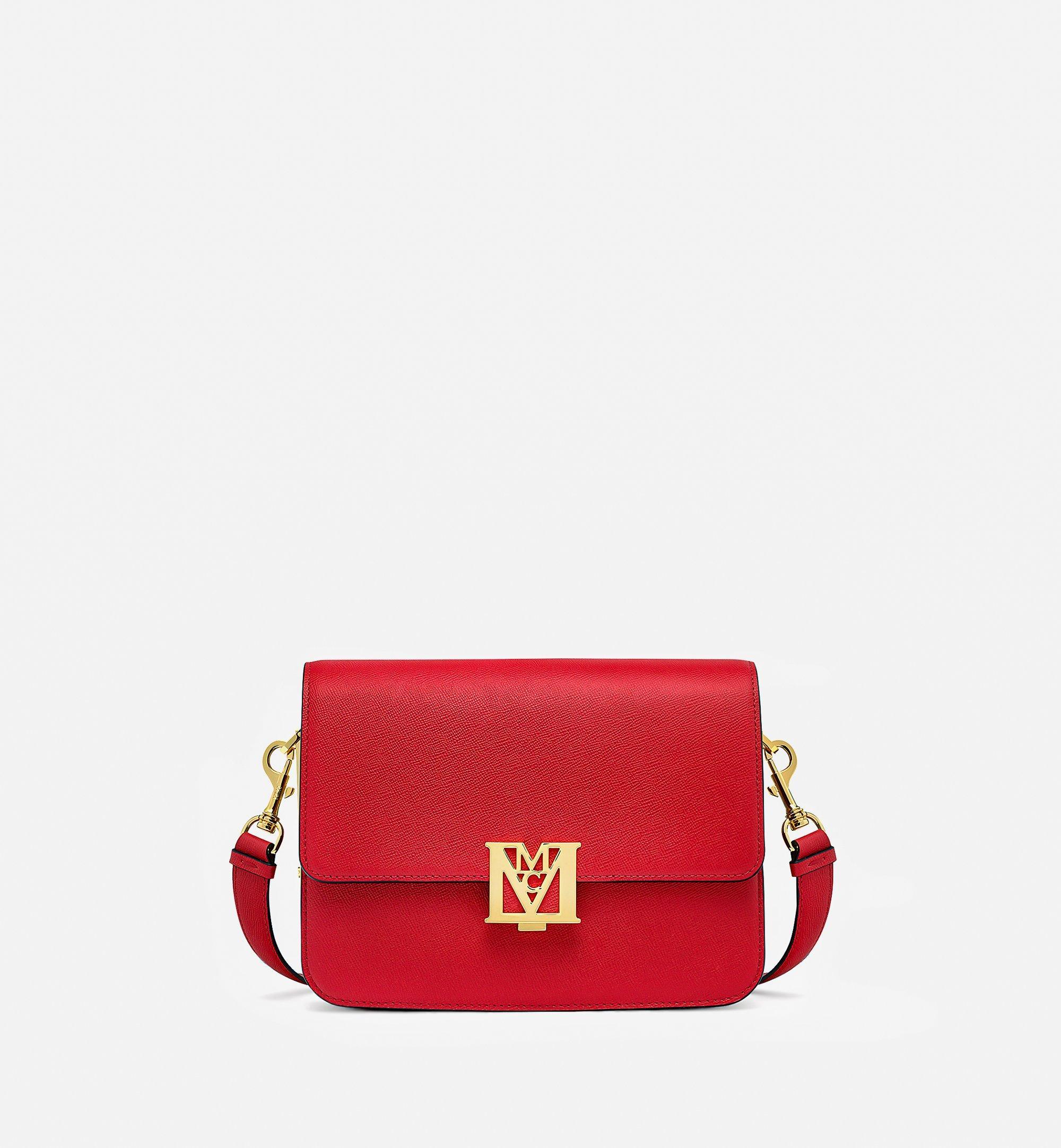 MCM Visetos 系列拼色皮革 Mena 肩背包 Red MWSBSLM01RU001 更多視圖 1