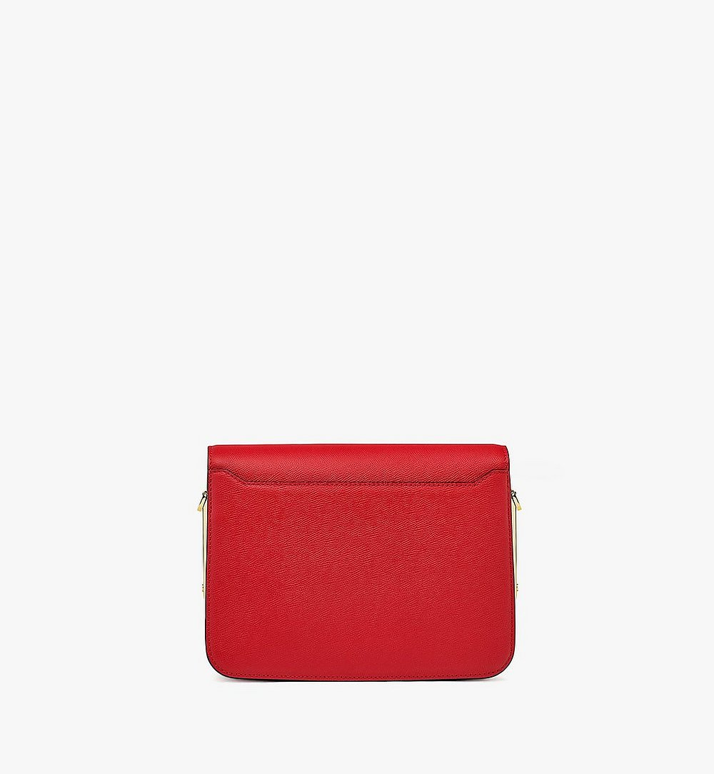 MCM Mena Shoulder Bag in Visetos Leather Block Red MWSBSLM01RU001 Alternate View 3