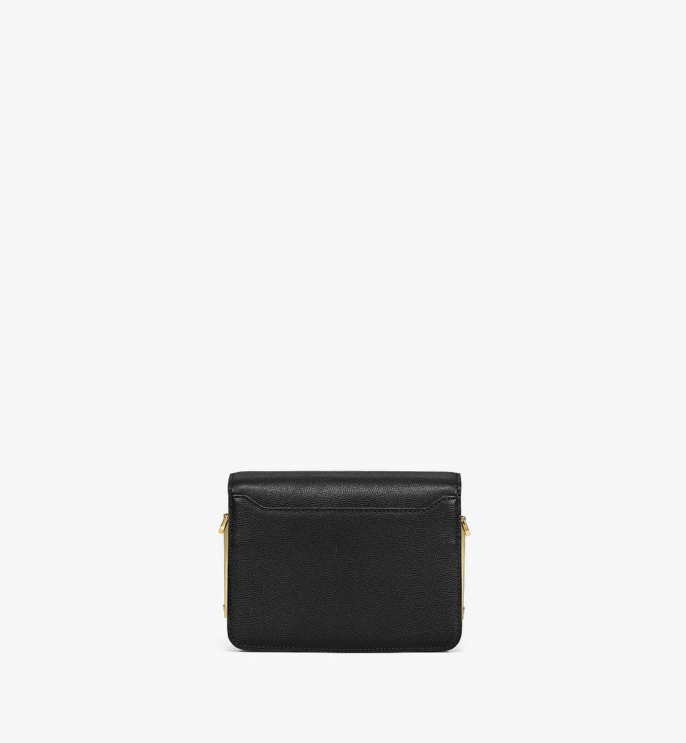 MCM Mena Shoulder Bag in Visetos Leather Block Black MWSBSLM02BK001 Alternate View 3