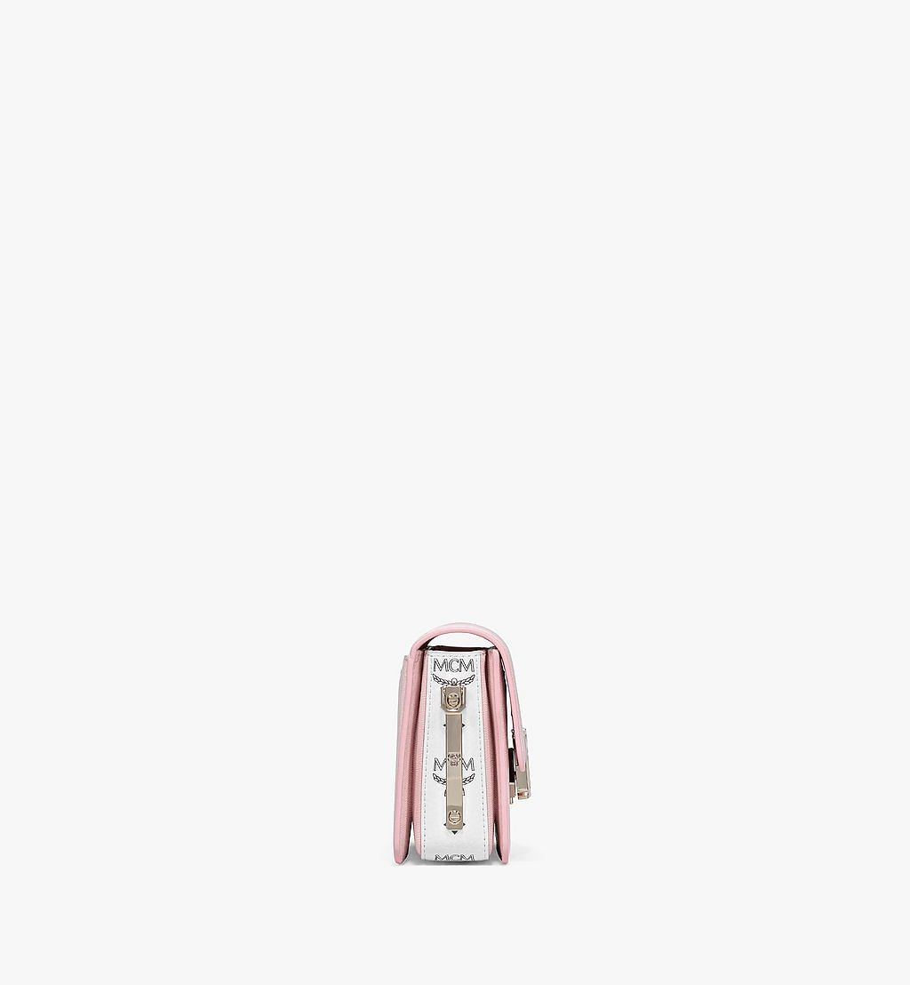 MCM Mena Shoulder Bag in Visetos Leather Block Pink MWSBSLM02QH001 Alternate View 1