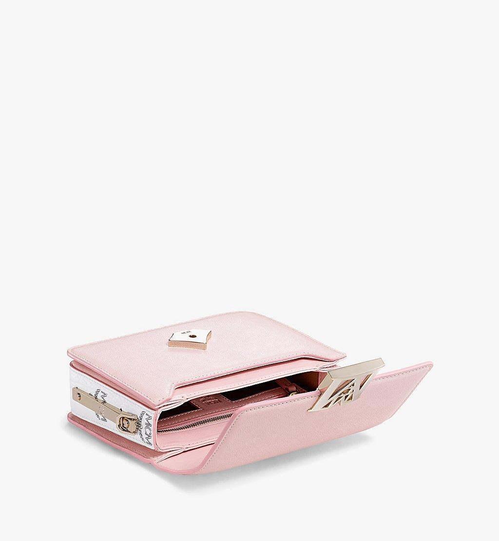 MCM Mena Shoulder Bag in Visetos Leather Block Pink MWSBSLM02QH001 Alternate View 2