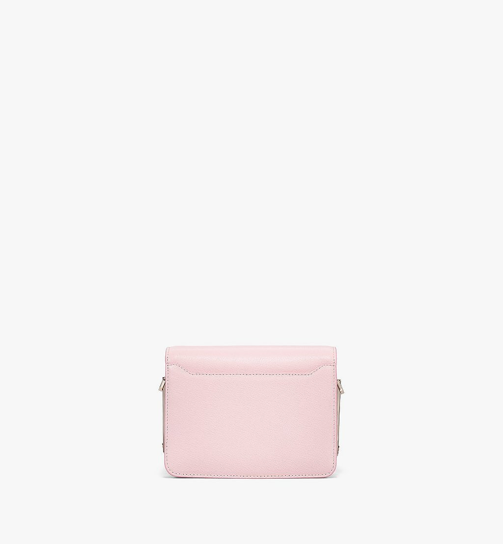 MCM Mena Shoulder Bag in Visetos Leather Block Pink MWSBSLM02QH001 Alternate View 3