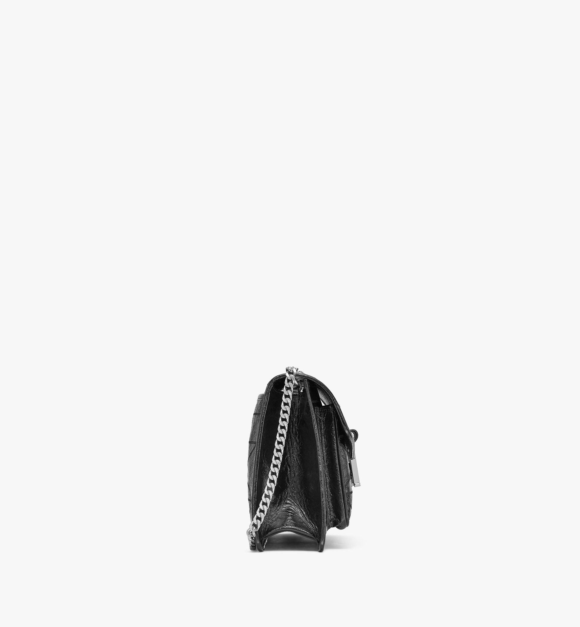 MCM Mena Gesteppte Schultertasche in Leder mit Cracked-Effekt Black MWSBSLM05BK001 Noch mehr sehen 1