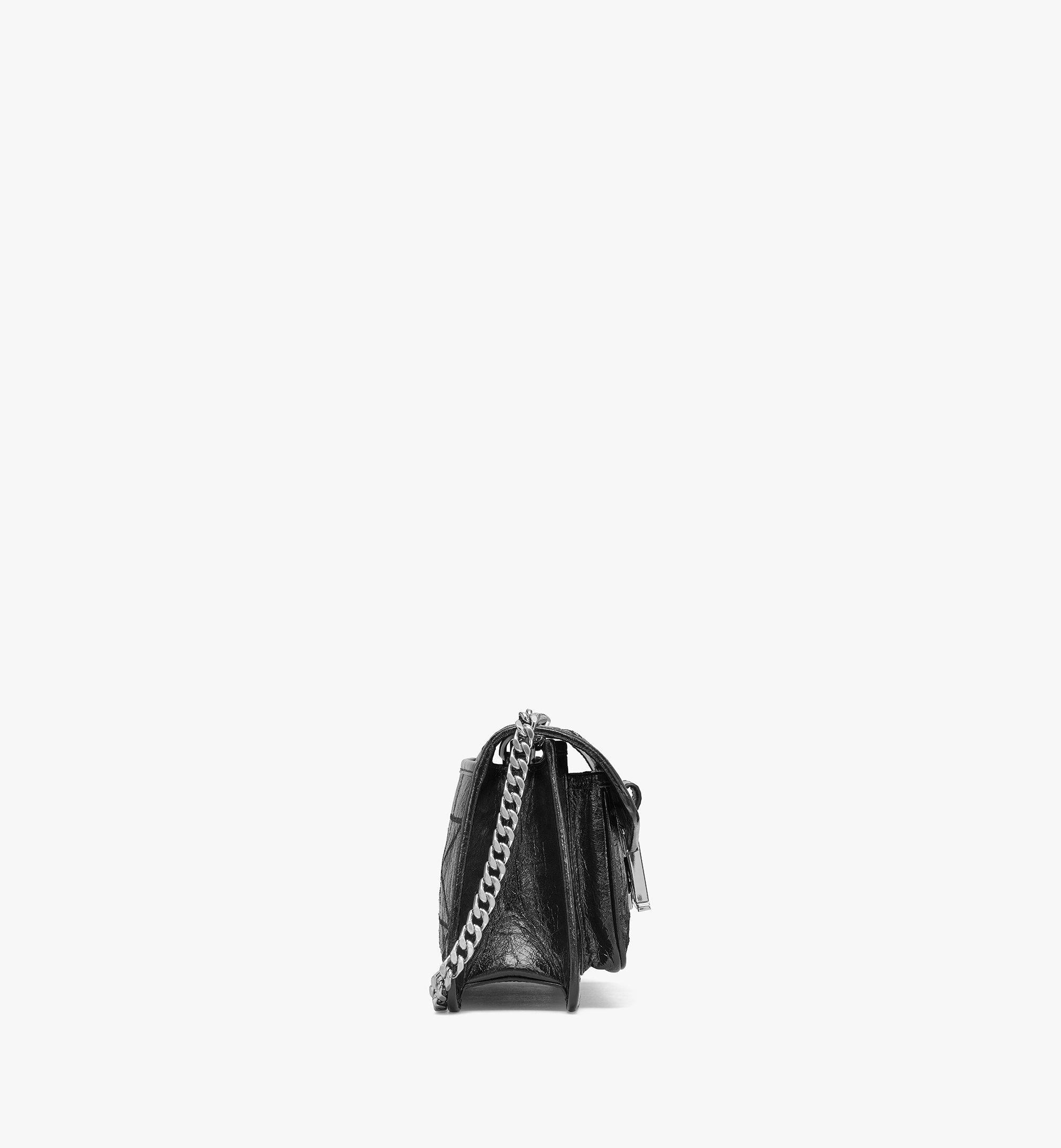 MCM Mena Gesteppte Schultertasche in Leder mit Cracked-Effekt Black MWSBSLM06BK001 Noch mehr sehen 1