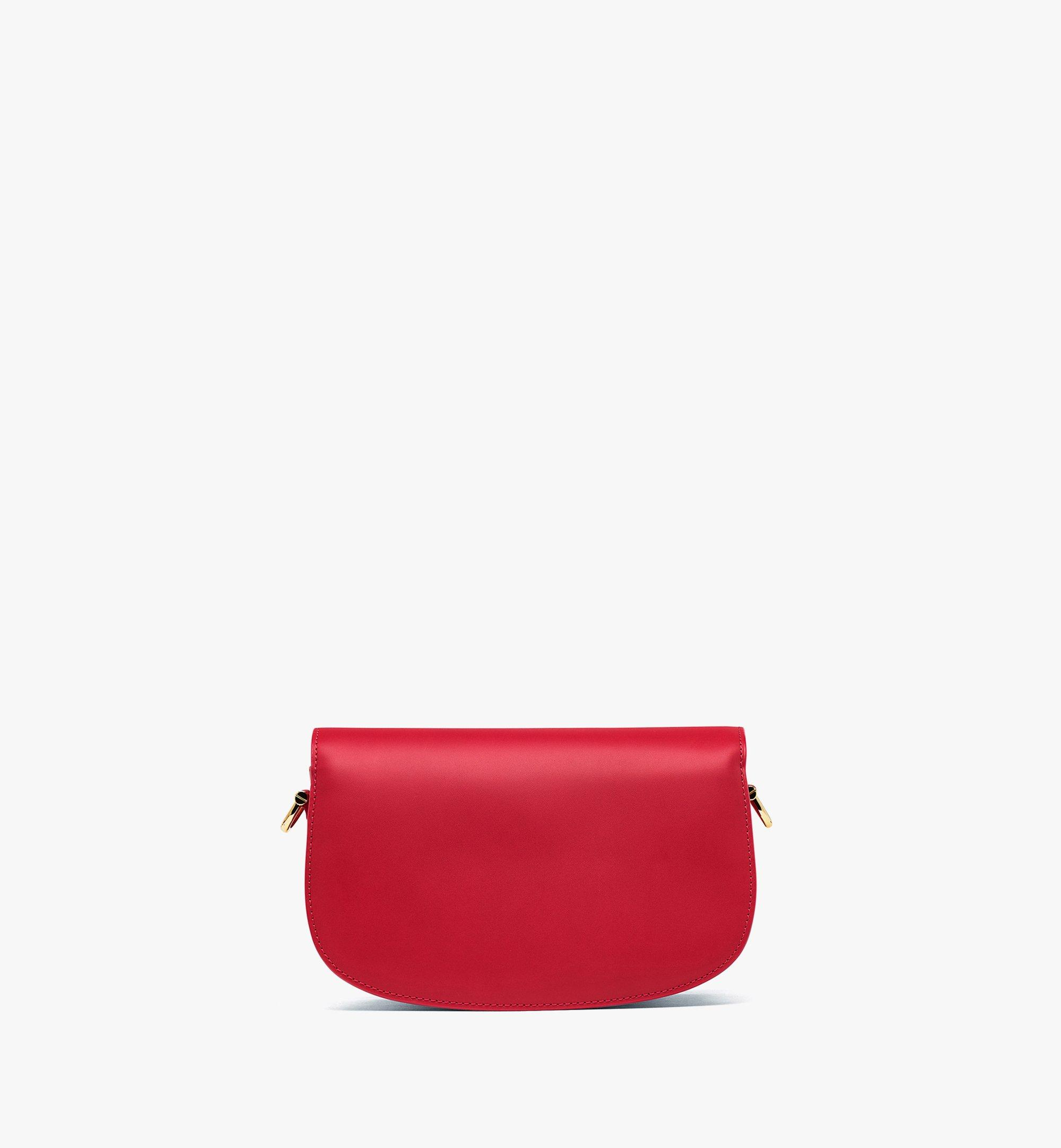 MCM E/W Patricia Shoulder Bag in Vachetta Leather Red MWSBSPA01RU001 Alternate View 3