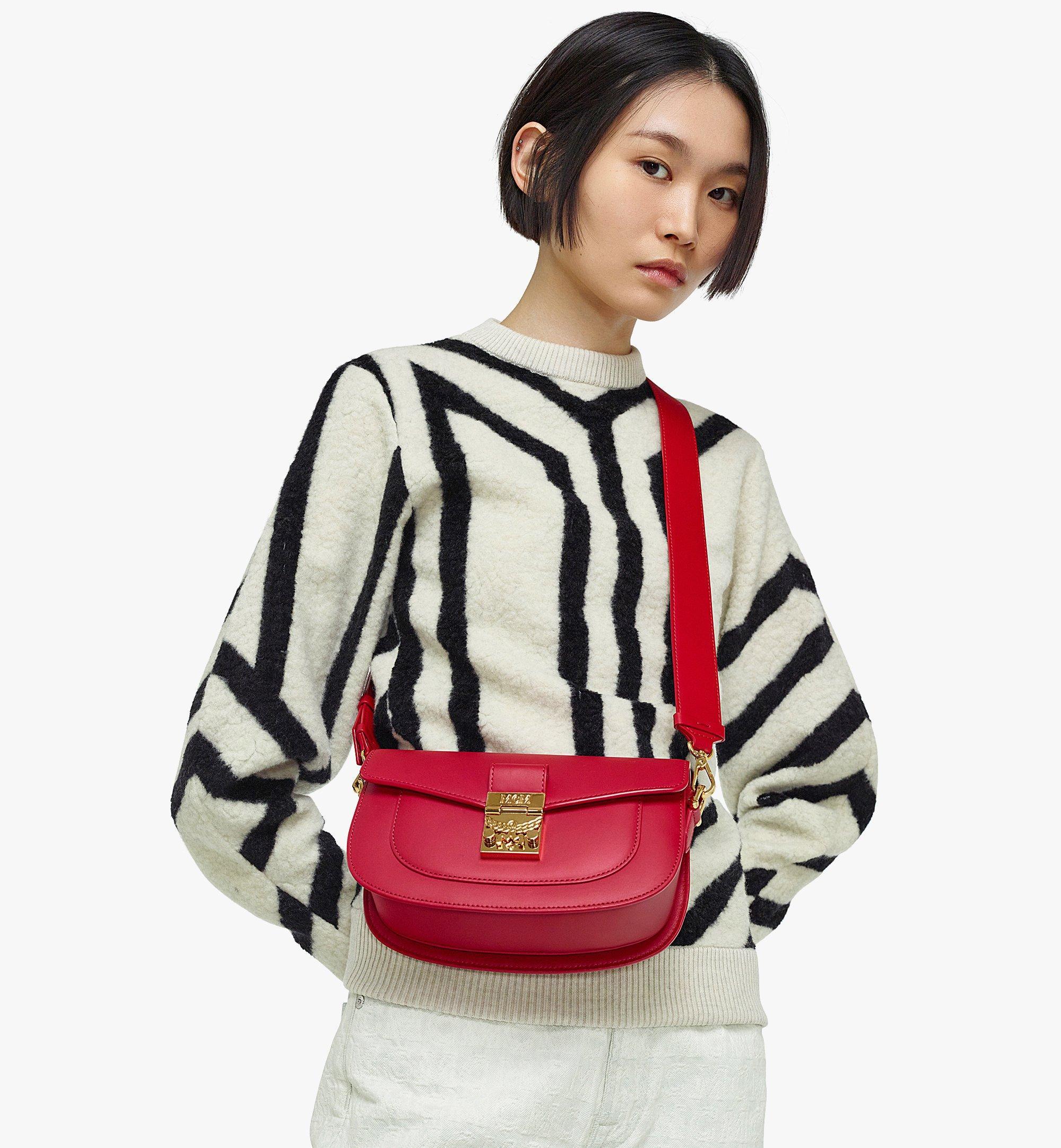 MCM E/W Patricia Shoulder Bag in Vachetta Leather Red MWSBSPA01RU001 Alternate View 2