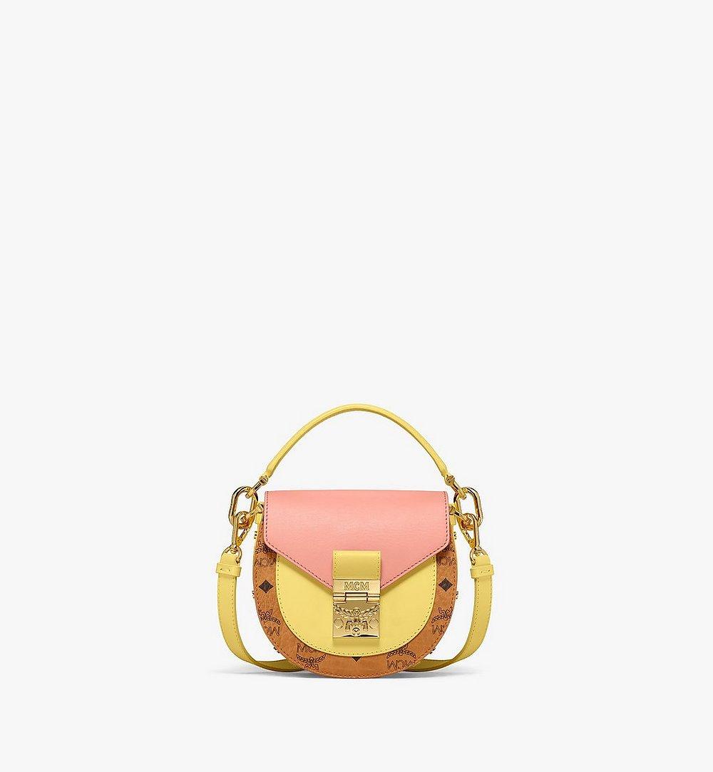 MCM Patricia Shoulder Bag in Visetos Leather Block Pink MWSBSPA02O8001 Alternate View 1