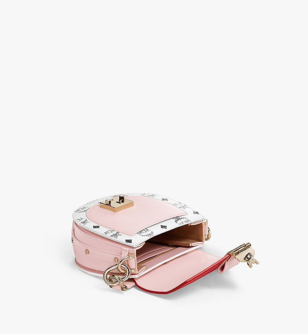 MCM Patricia Shoulder Bag in Visetos Leather Block Pink MWSBSPA02R4001 Alternate View 2