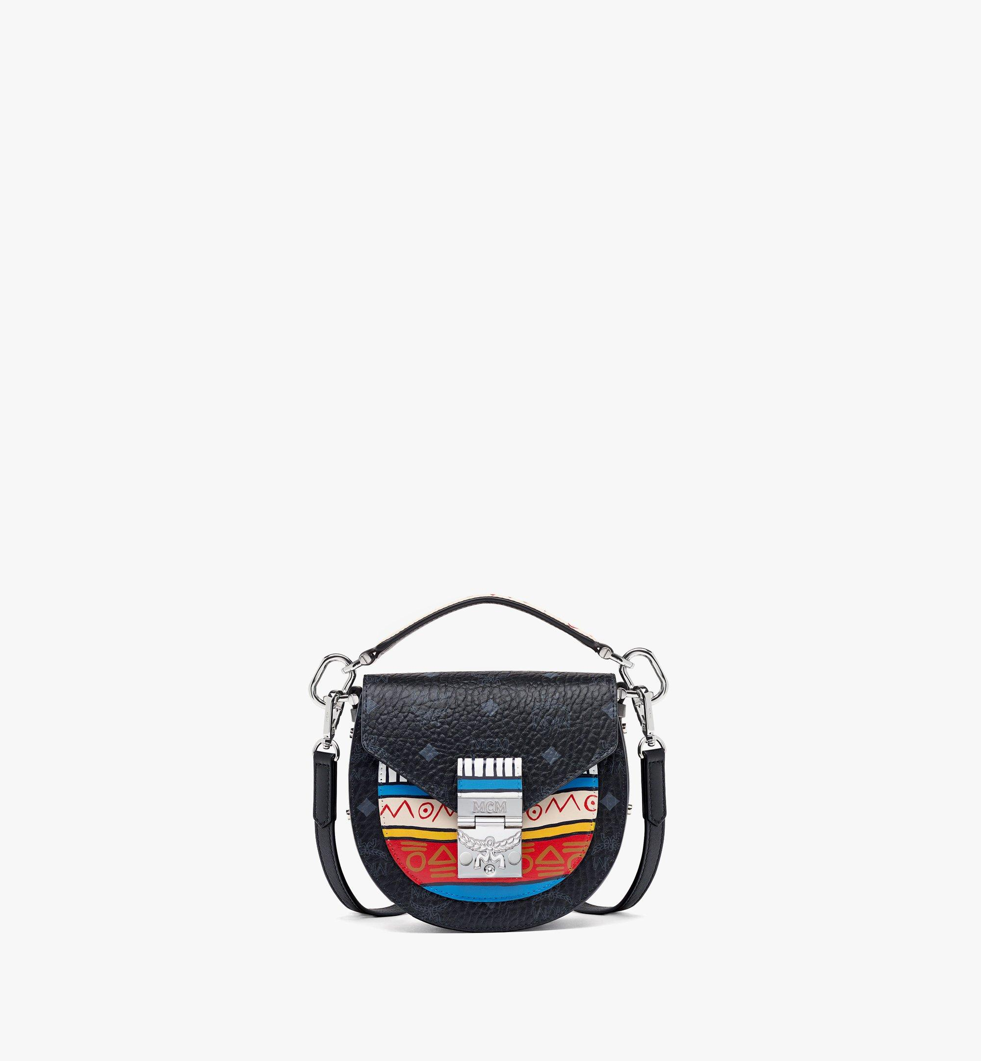 MCM Upcycling Project Patricia Shoulder Bag in Marquage Visetos Black MWSBSUP01BK001 Alternate View 1