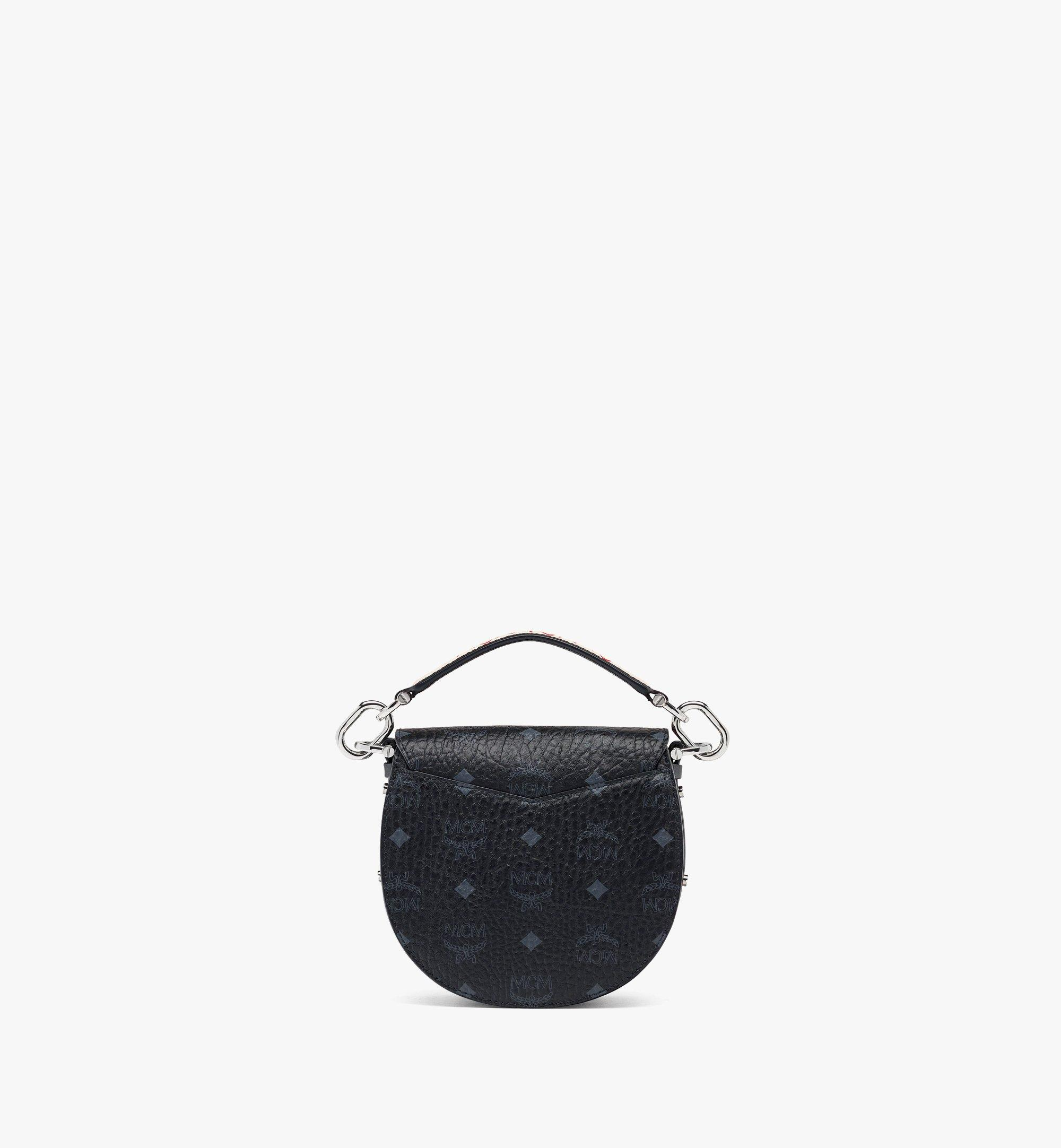 MCM Upcycling Project Patricia Shoulder Bag in Marquage Visetos Black MWSBSUP01BK001 Alternate View 3