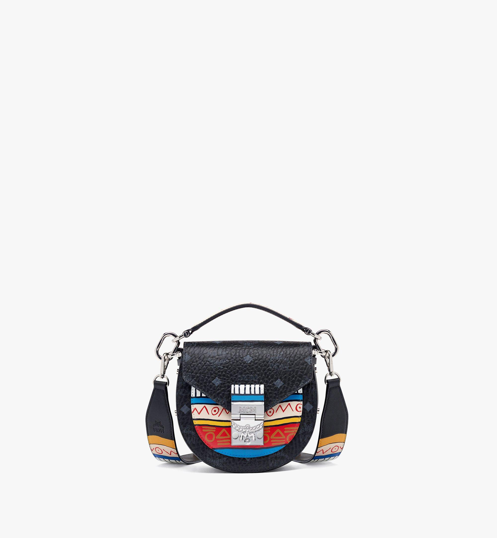 MCM Upcycling Project Patricia Shoulder Bag in Marquage Visetos Black MWSBSUP01BK001 Alternate View 4