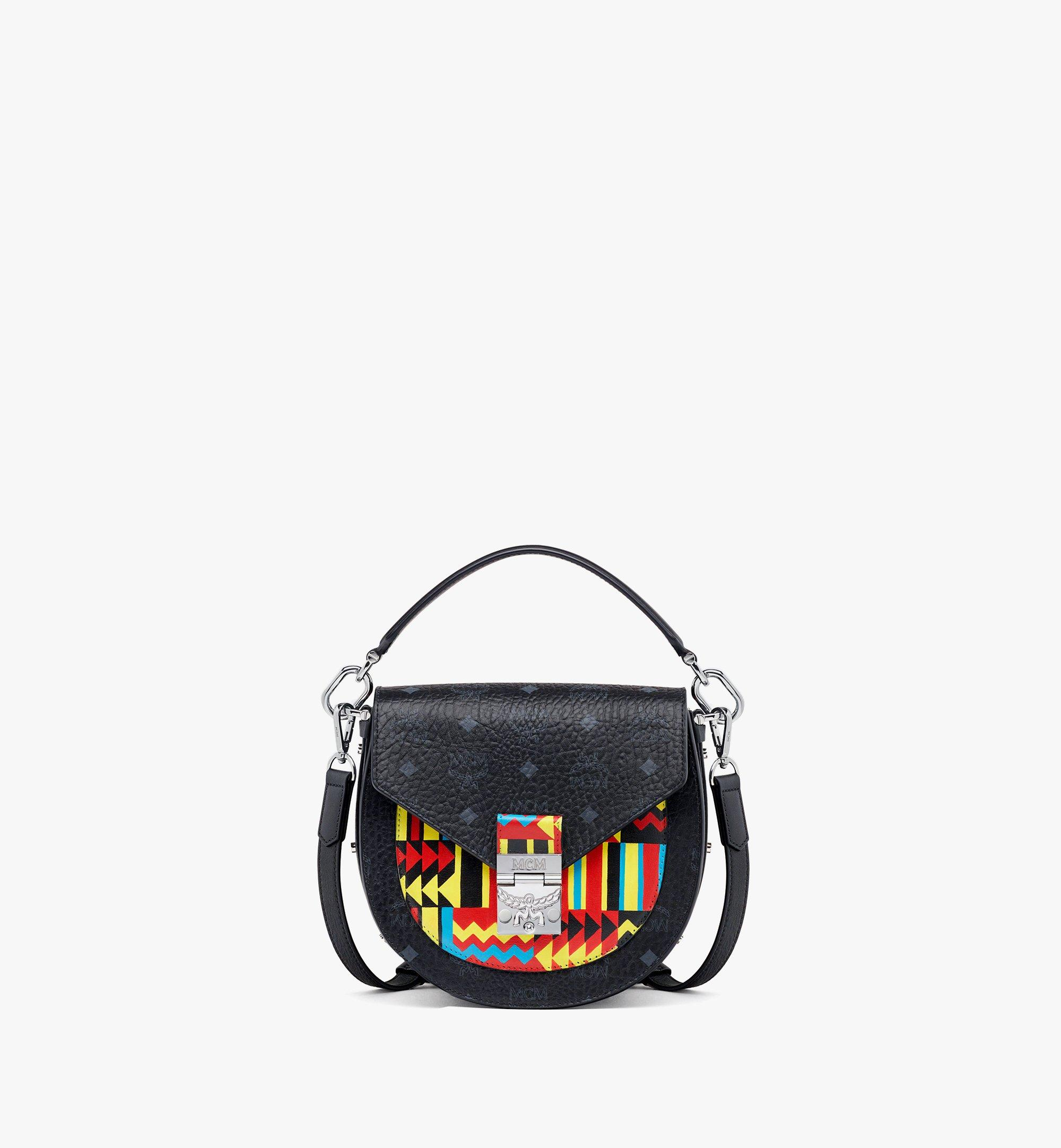 MCM Upcycling Project Patricia Shoulder Bag in Marquage Visetos Black MWSBSUP03BK001 Alternate View 1