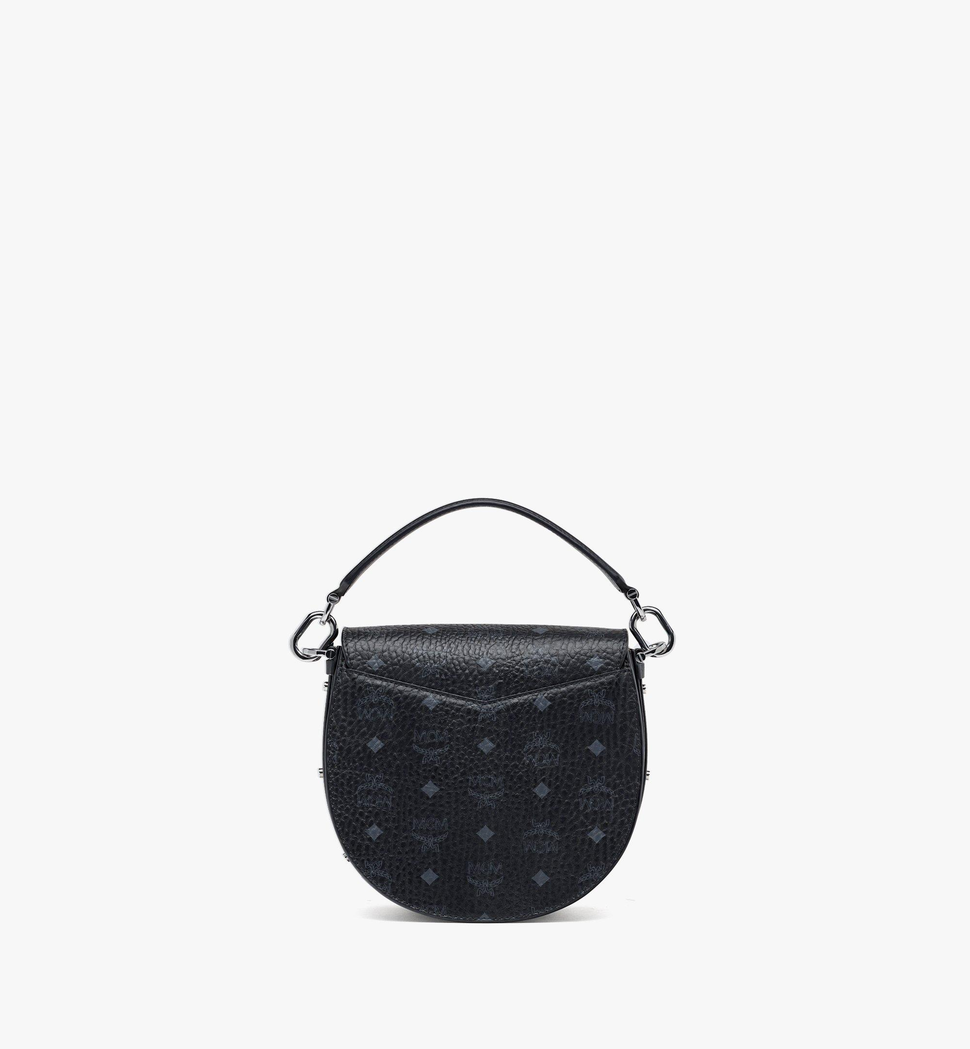 MCM Upcycling Project Patricia Shoulder Bag in Marquage Visetos Black MWSBSUP03BK001 Alternate View 3