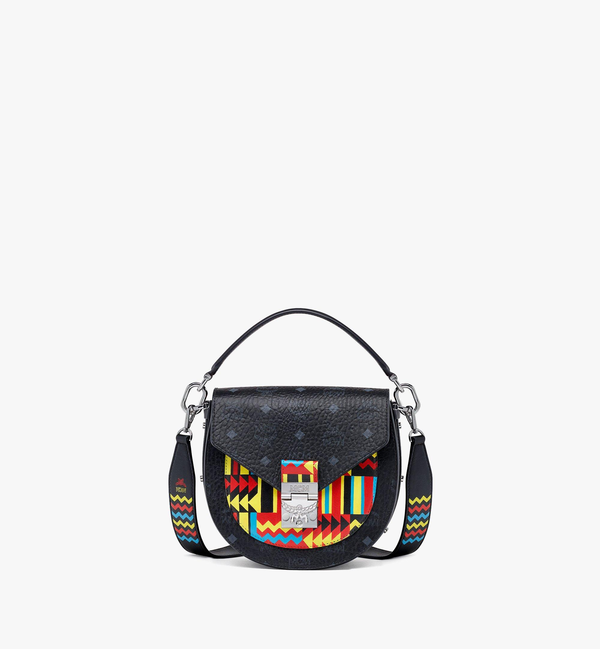 MCM Upcycling Project Patricia Shoulder Bag in Marquage Visetos Black MWSBSUP03BK001 Alternate View 4