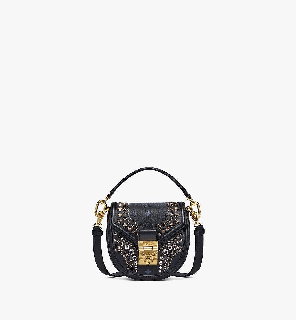 MCM Shoulder Bag in Crystal Visetos Black MWSBSVI01BK001 Alternate View 1