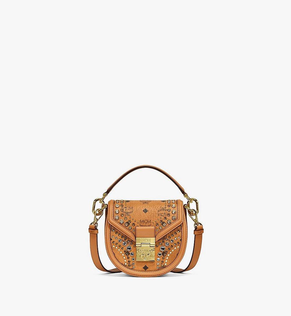 MCM Shoulder Bag in Crystal Visetos Cognac MWSBSVI01CO001 Alternate View 1