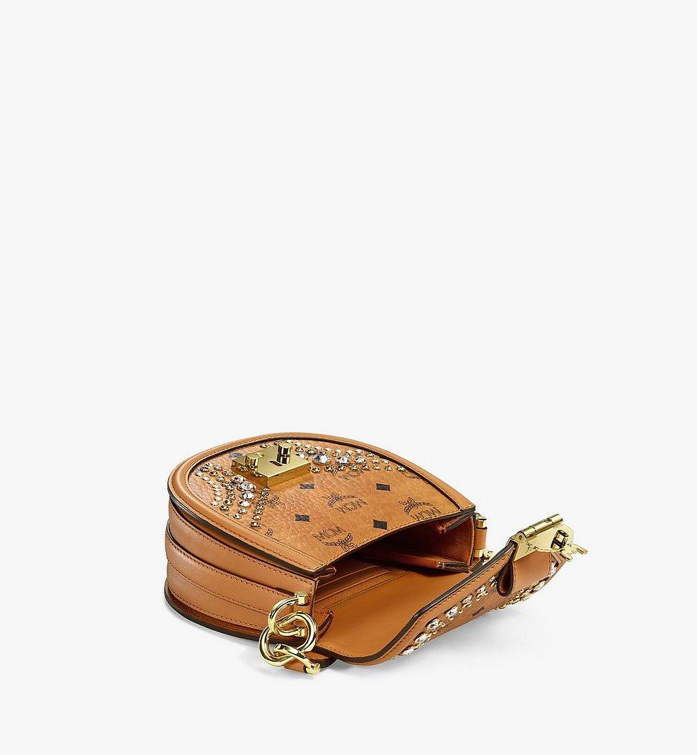 MCM Shoulder Bag in Crystal Visetos Cognac MWSBSVI01CO001 Alternate View 2