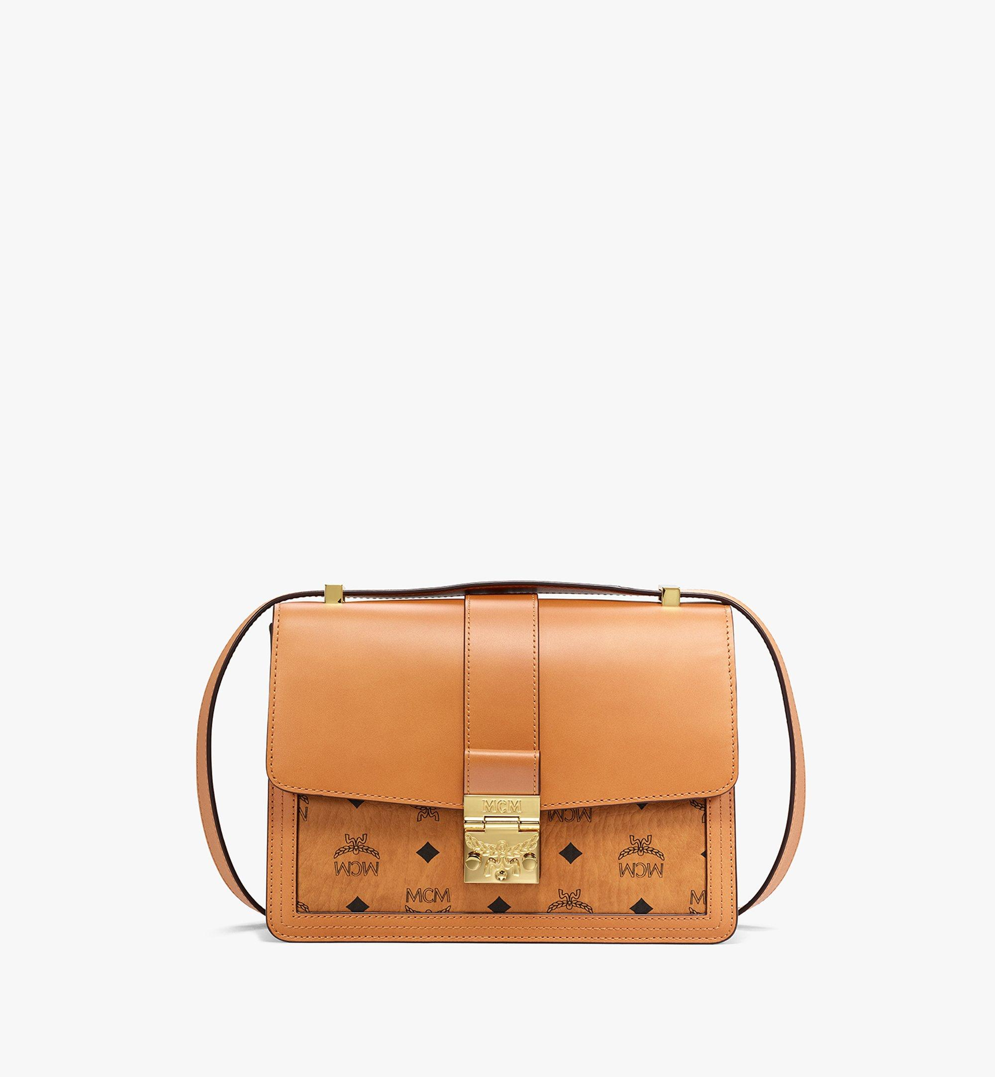 MCM Tracy Shoulder Bag in Visetos Leather Mix Cognac MWSBSXT01CO001 Alternate View 1